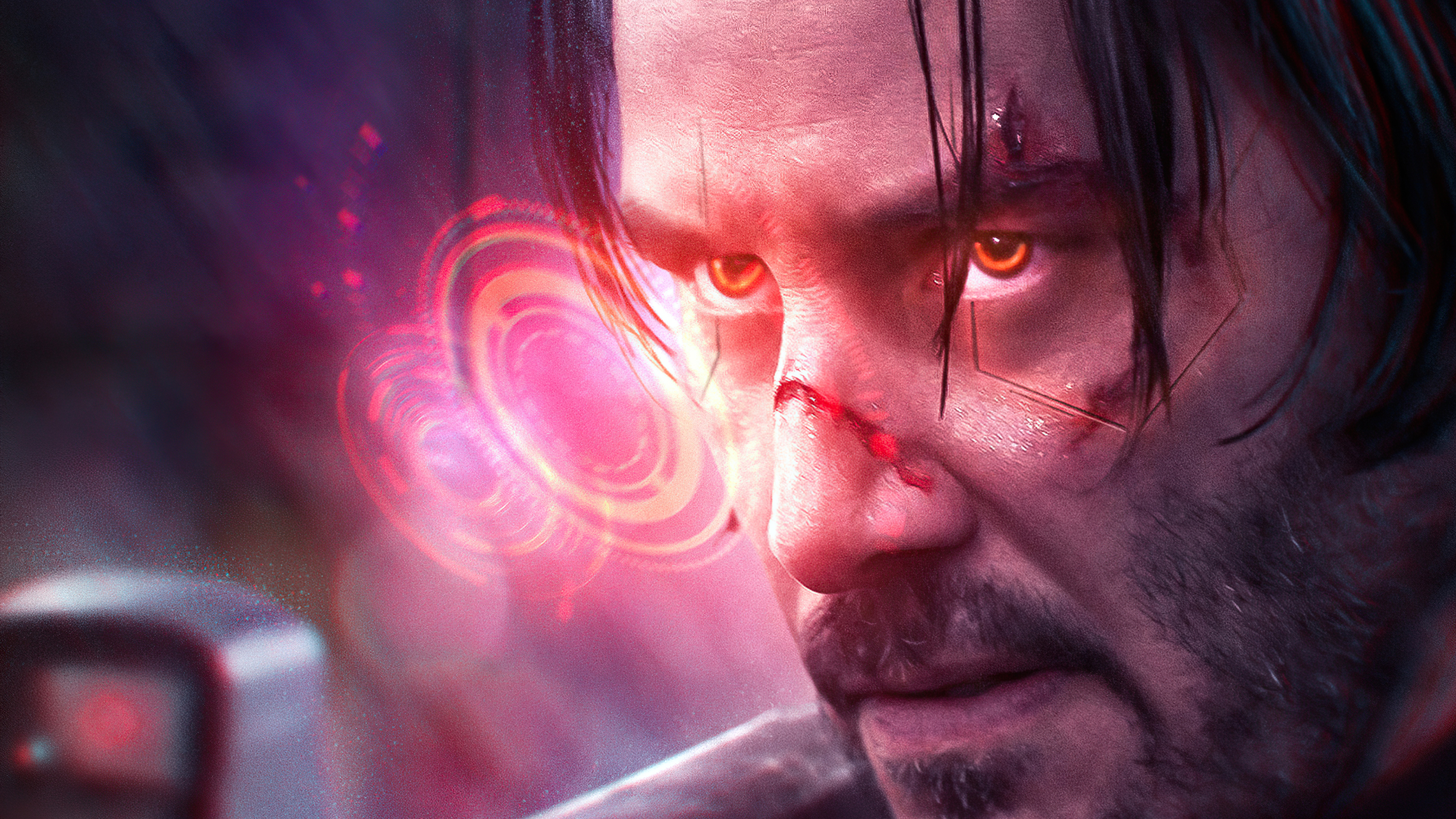 Wallpaper Keanu Reeves Cyberpunk 2077