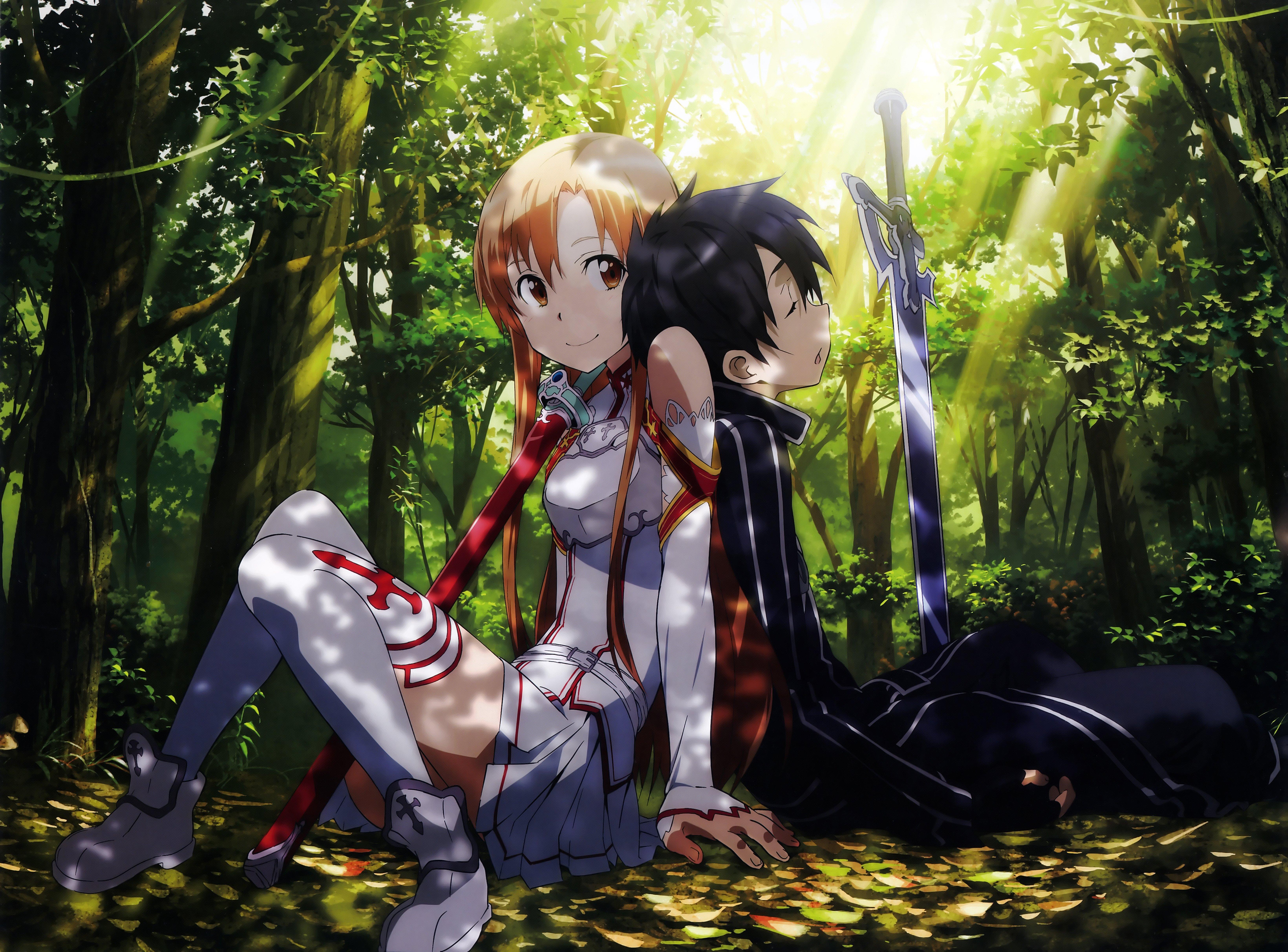 Fondos de pantalla Anime Kirito and Asuna