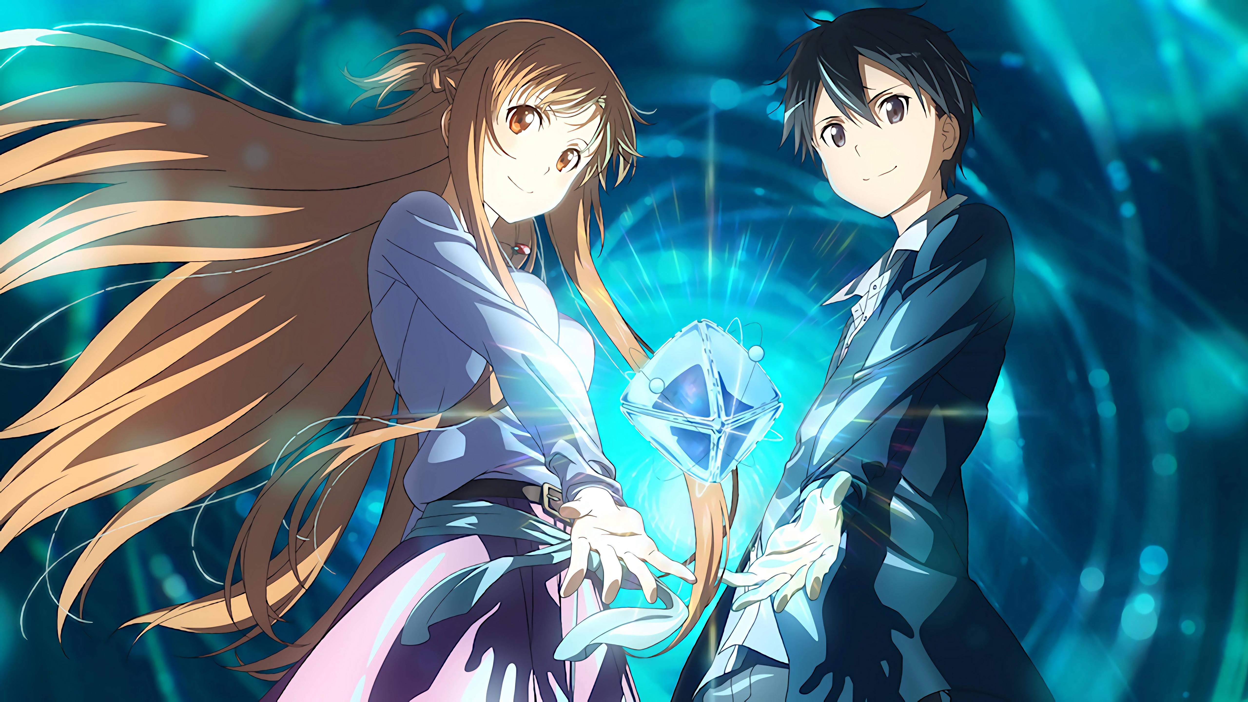 Kirito And Asuna From Sword Art Online Anime Wallpaper 5k Ultra Hd