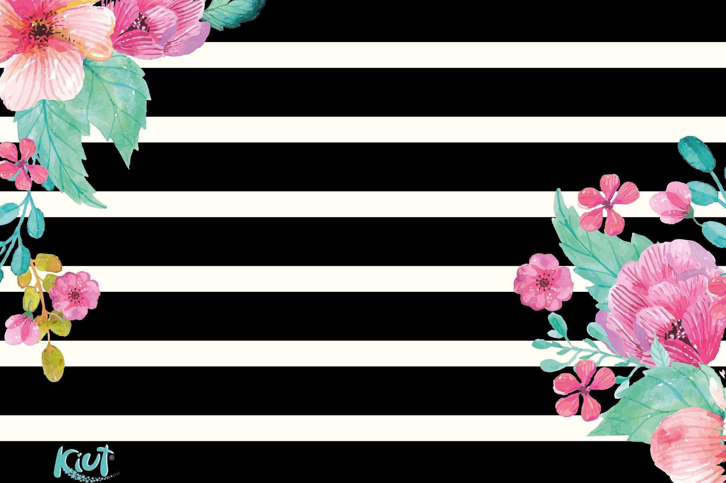 Fondos de pantalla Kiut Flores en lineas blancas y negras
