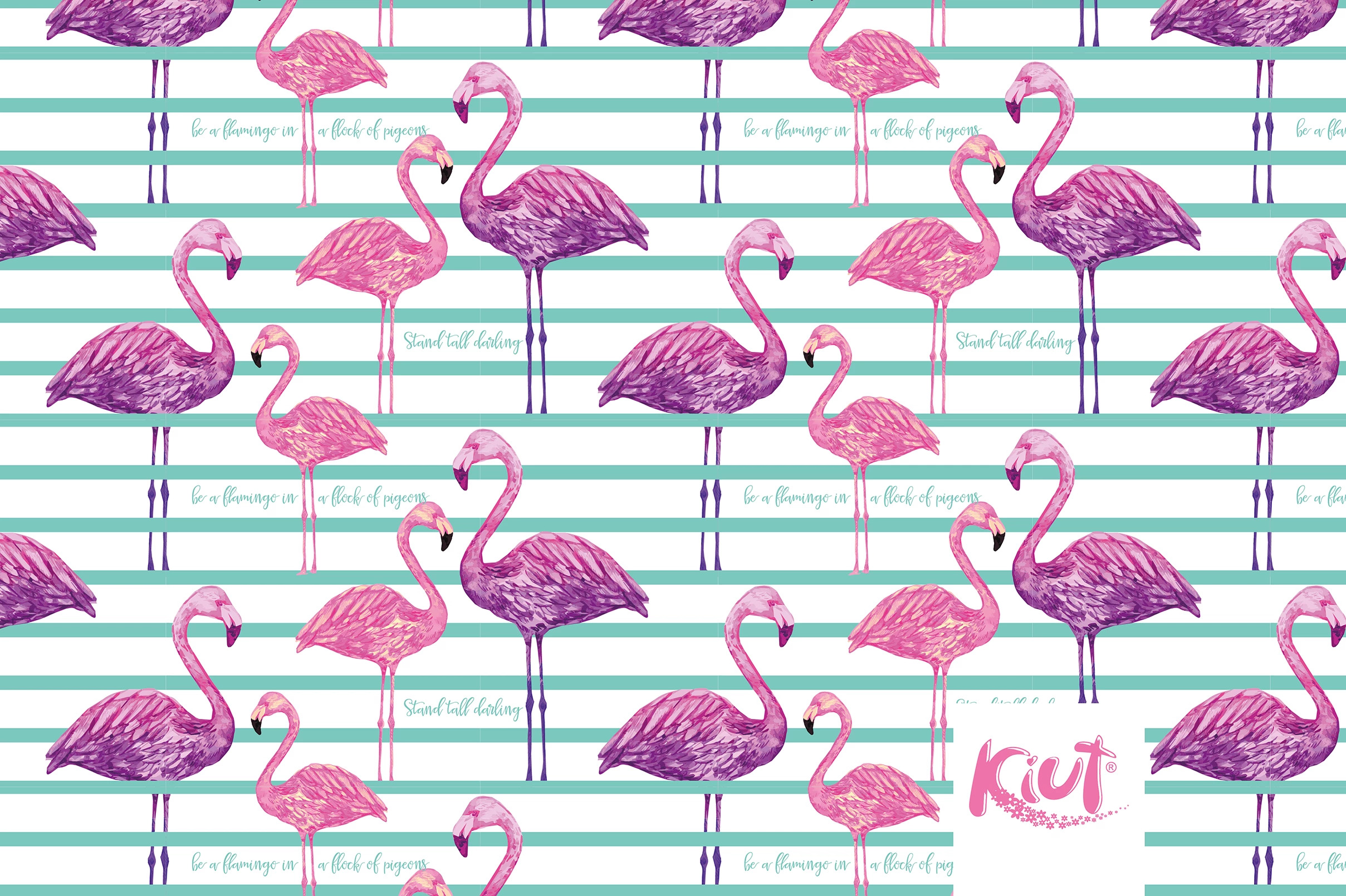 Wallpaper Kiut Flamingo pattern