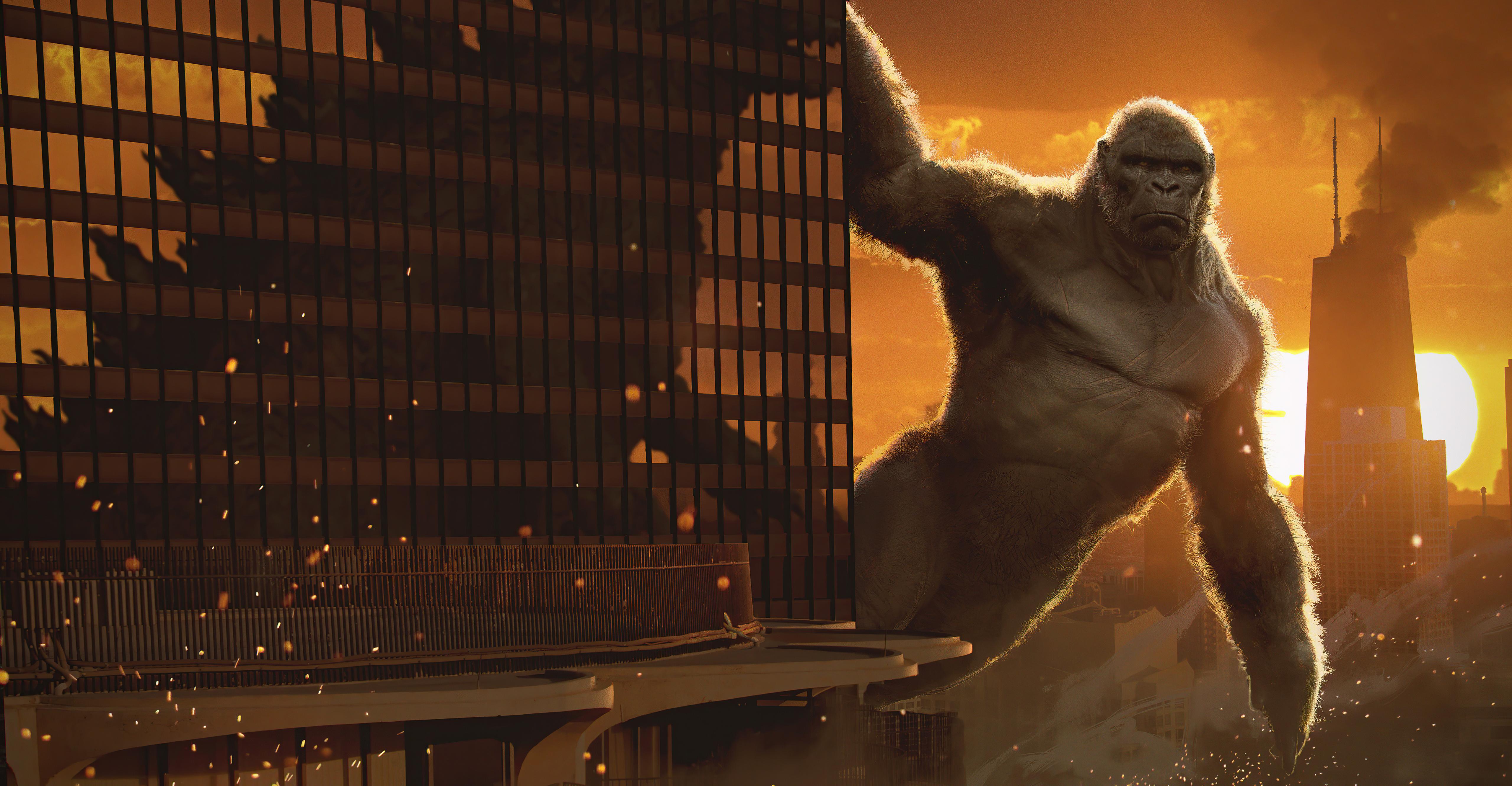 Fondos de pantalla Kong v Godzilla