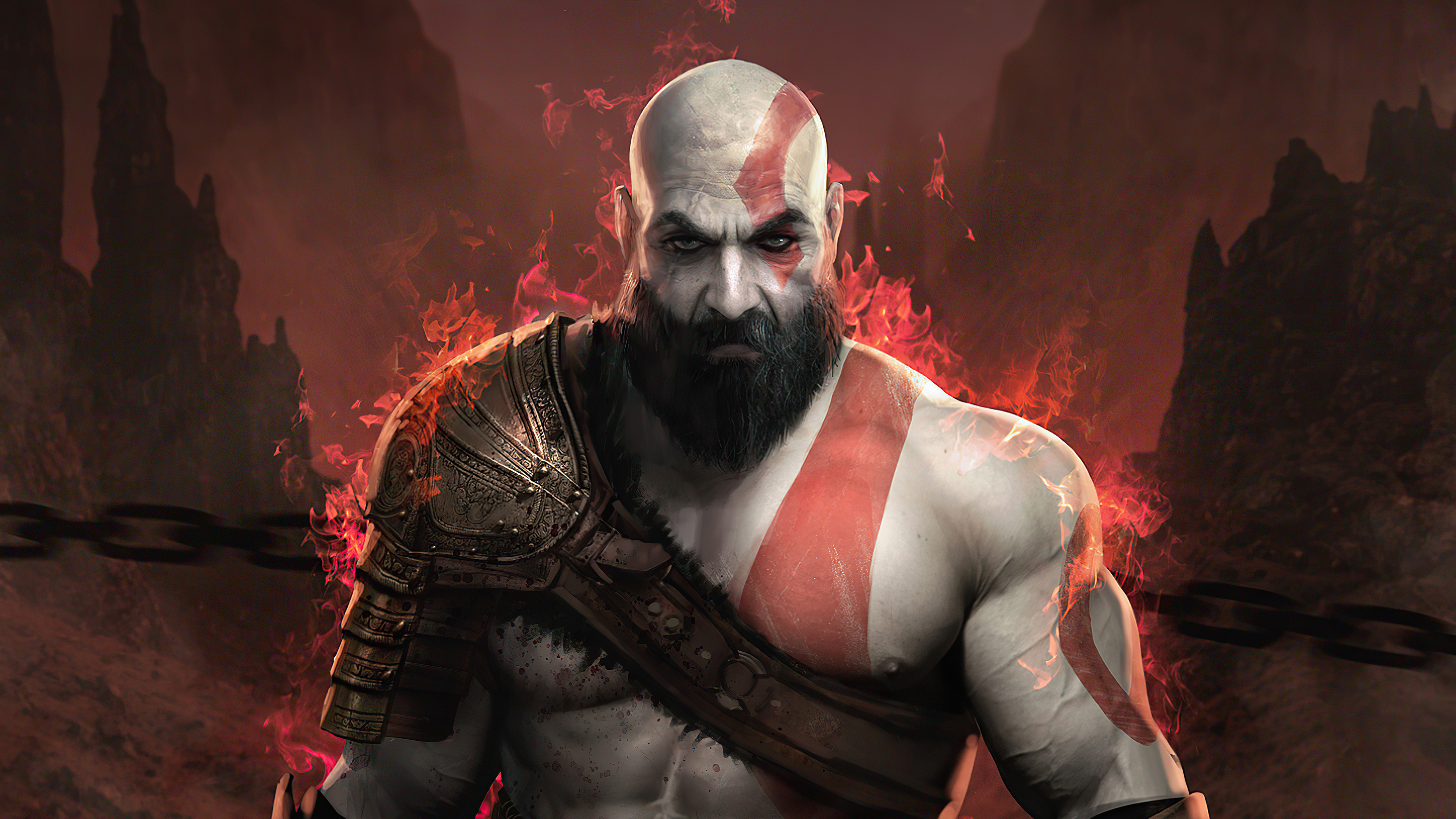 Fondos de pantalla Kratos de God of War 2020