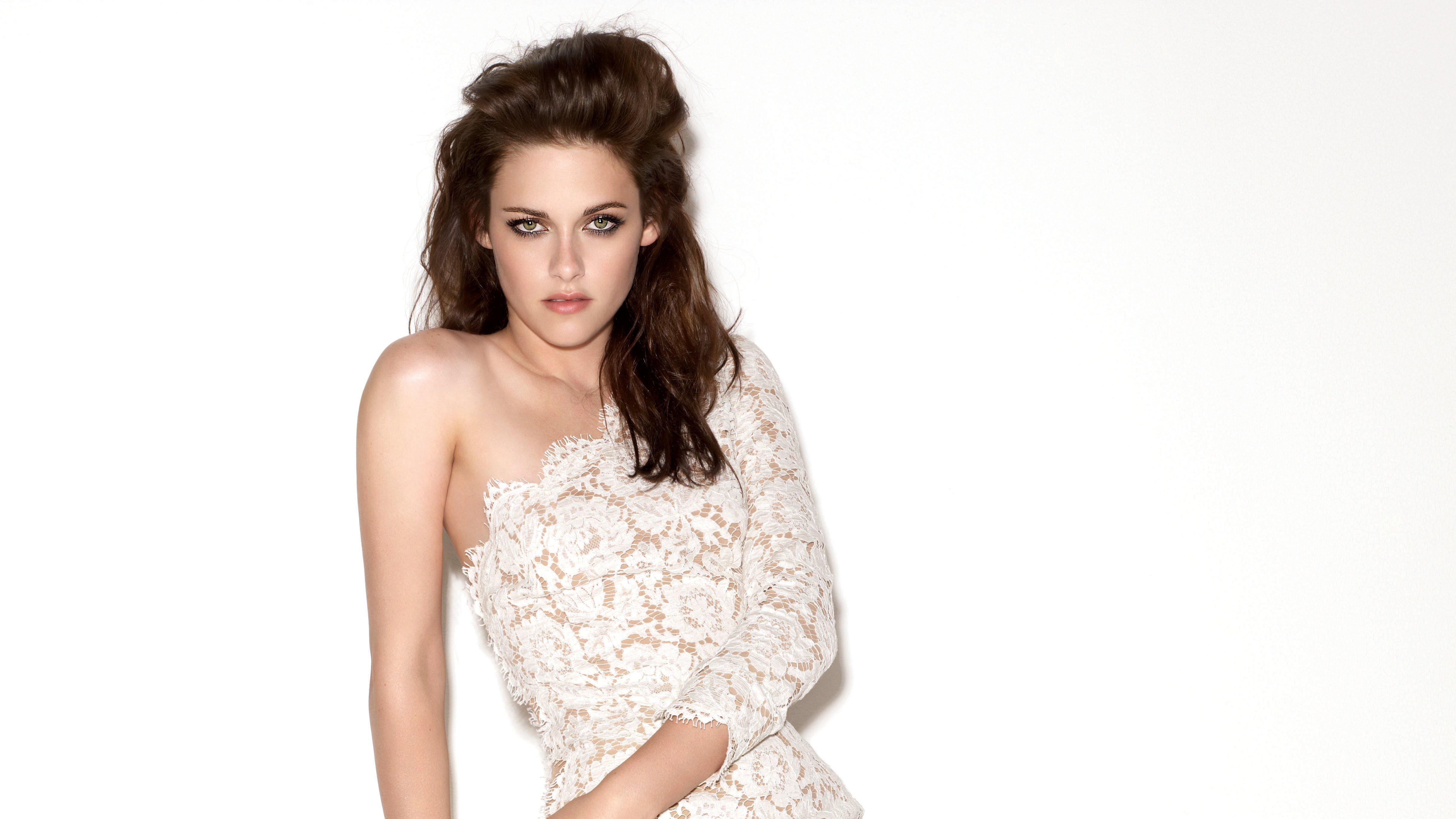 Fondos de pantalla Kristen Stewart vestido blanco