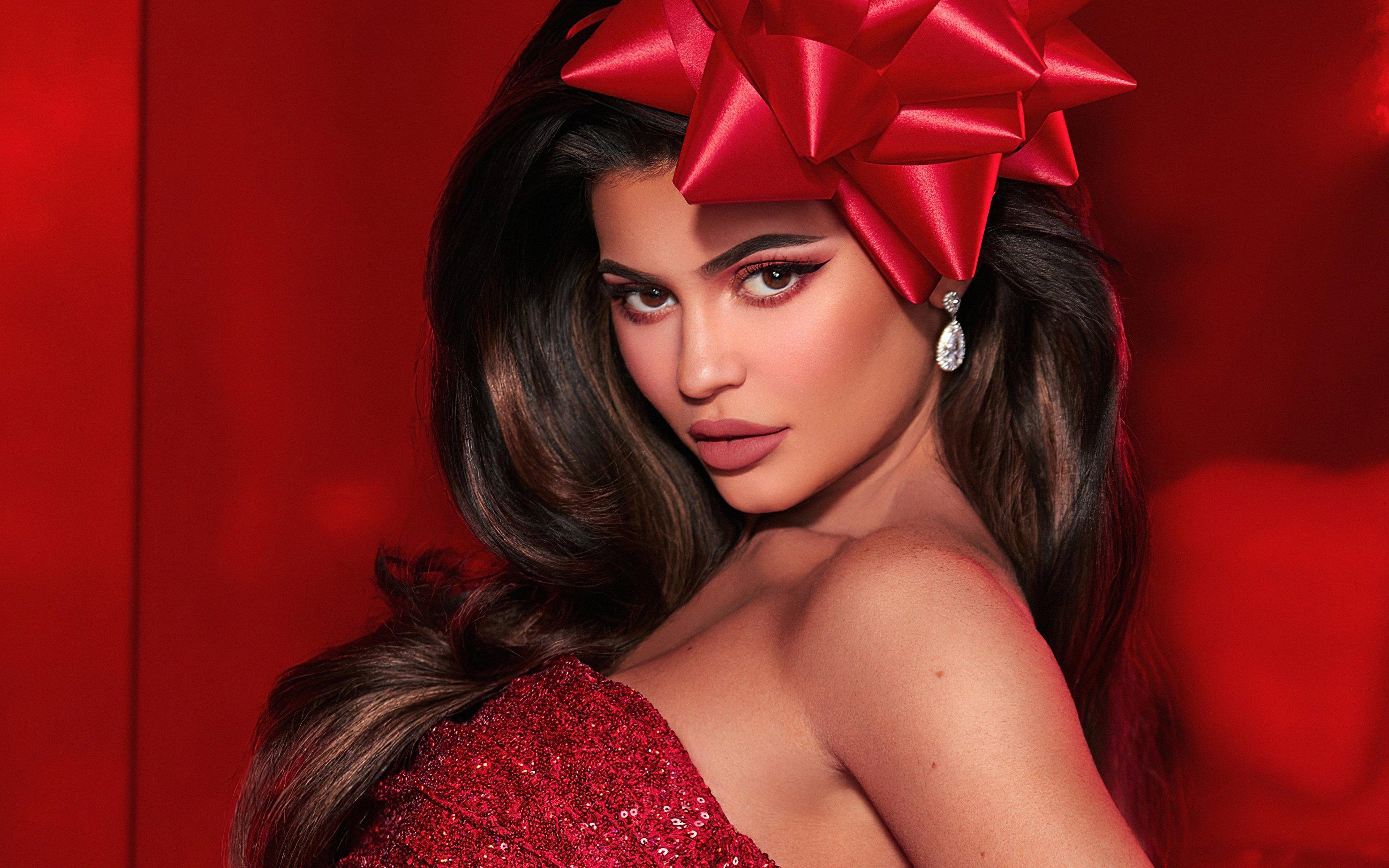 Fondos de pantalla Kylie Jenner en Navidad