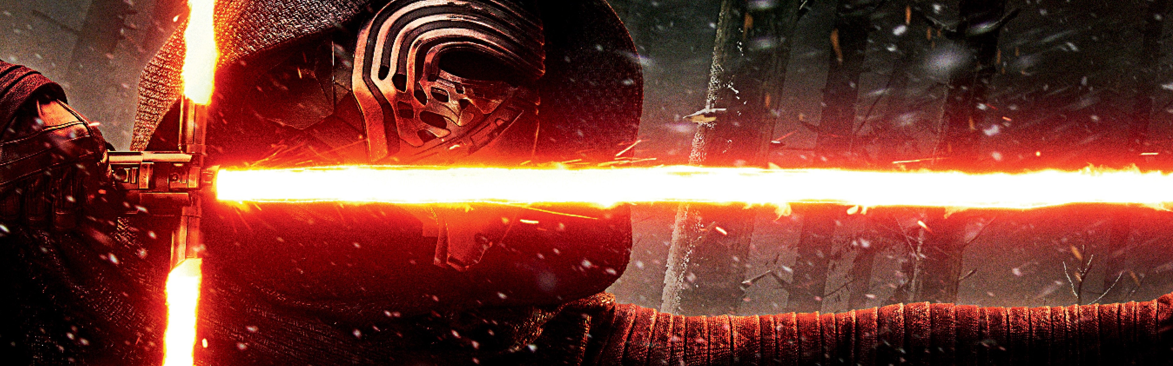 Wallpaper Kylo Ren lightsaber