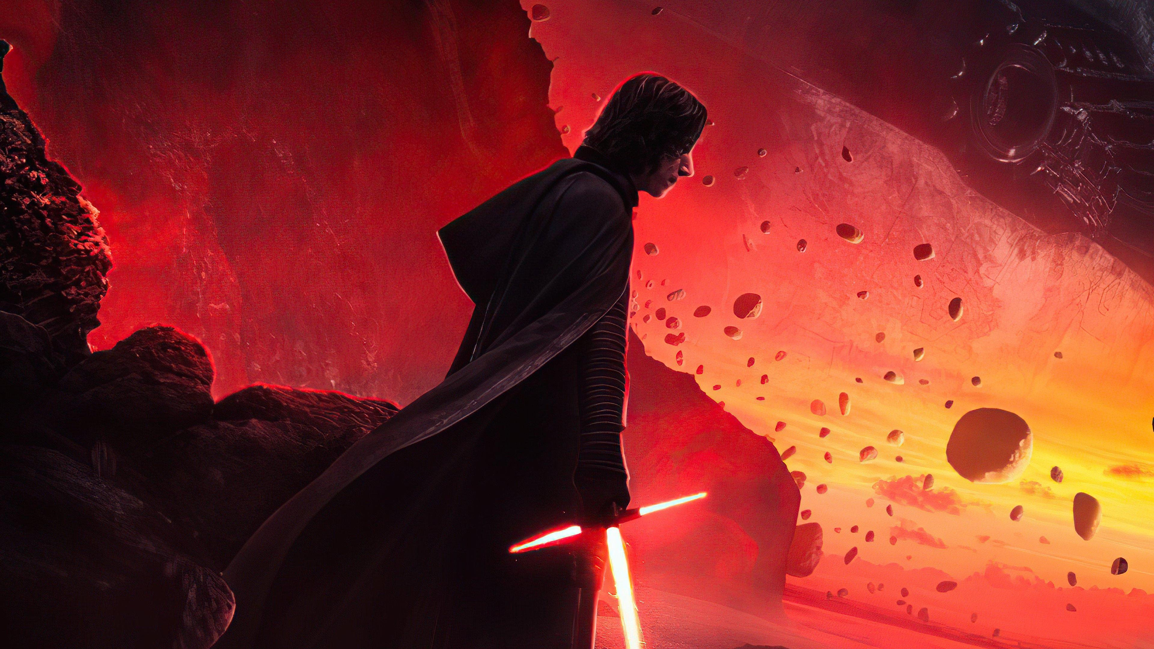Wallpaper Kylo Ren Star Wars Lightsaber