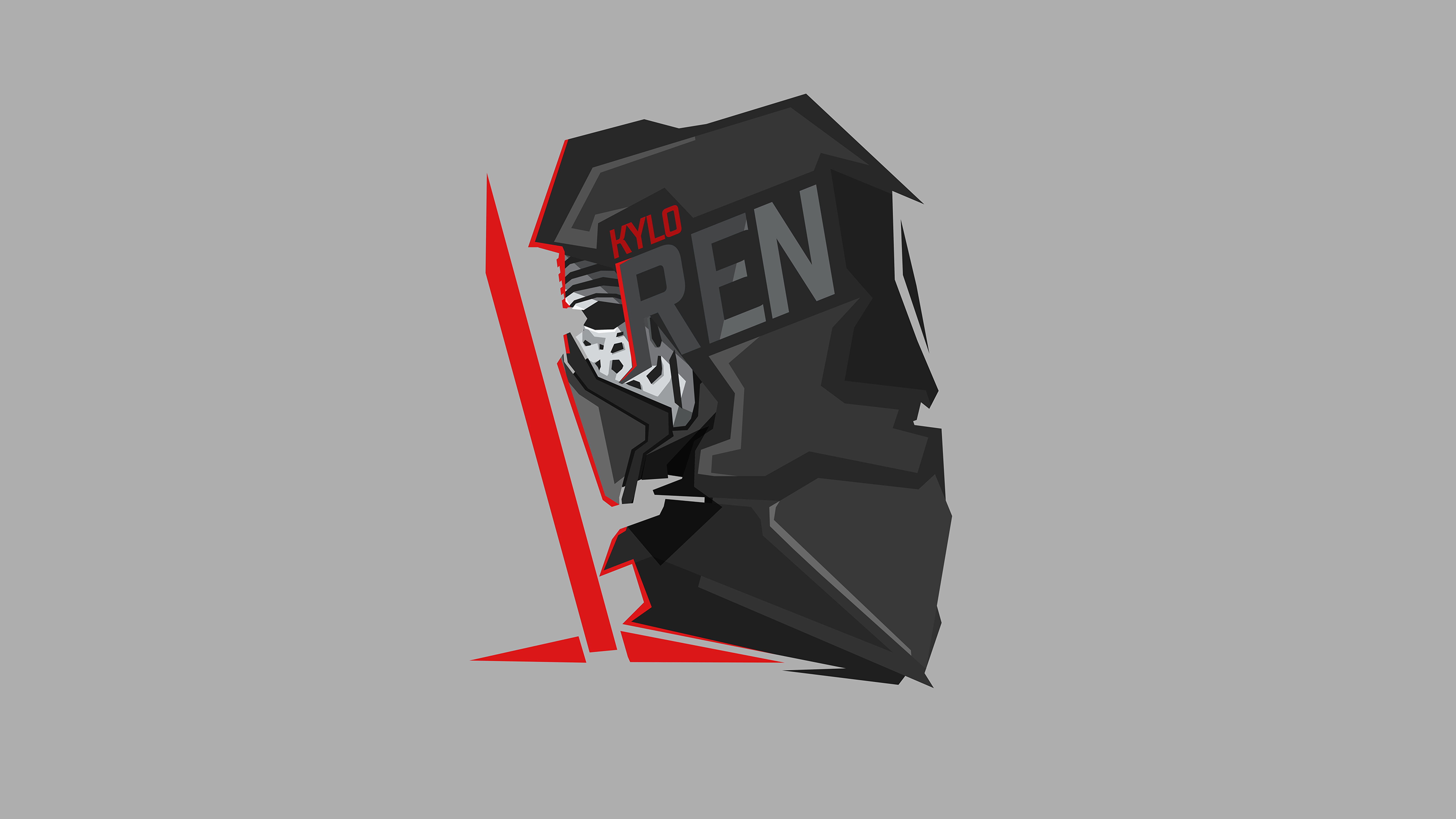 Wallpaper Kylo Ren Star Wars Illustration
