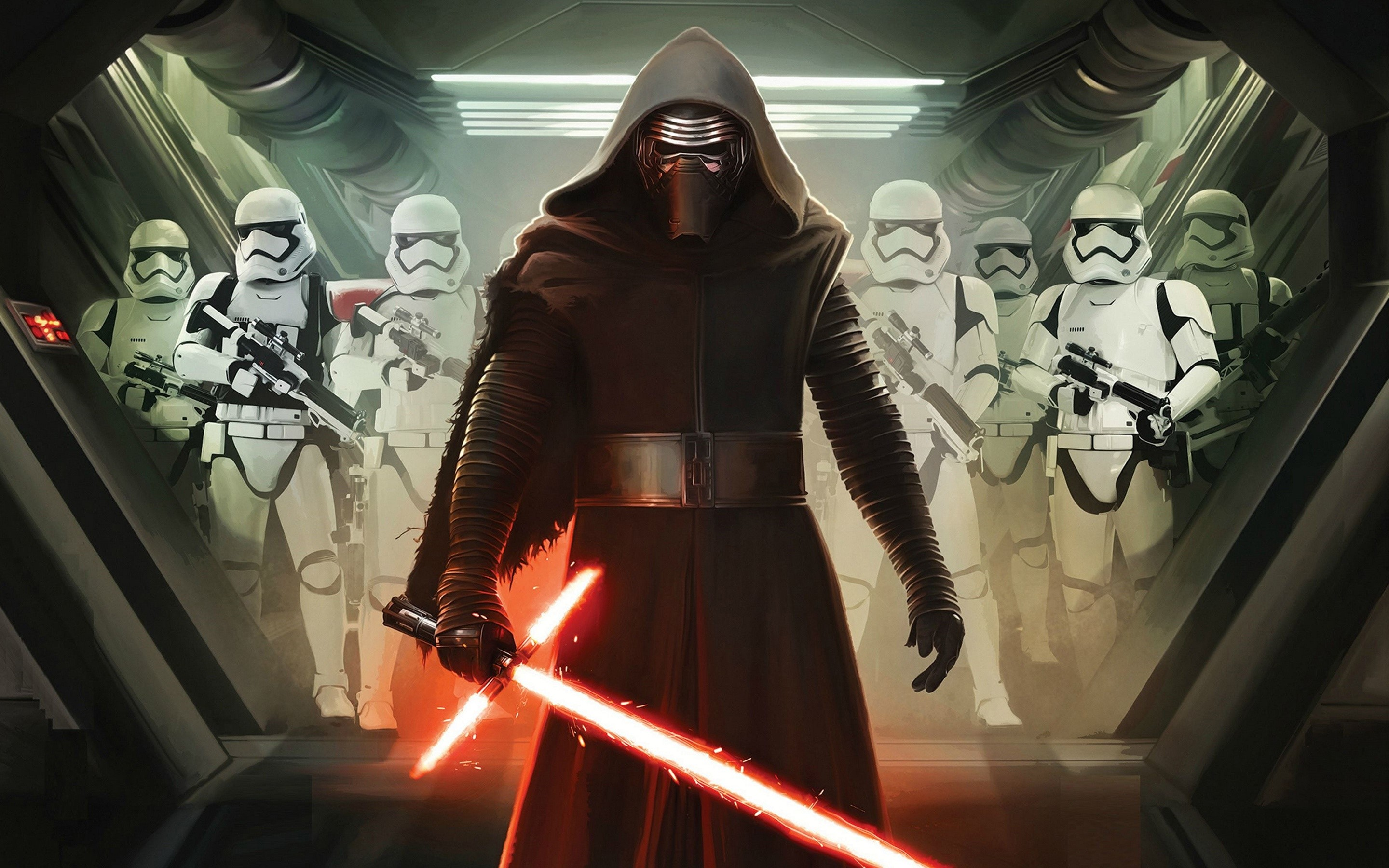 Wallpaper Kylo ren and the imperial soldiers