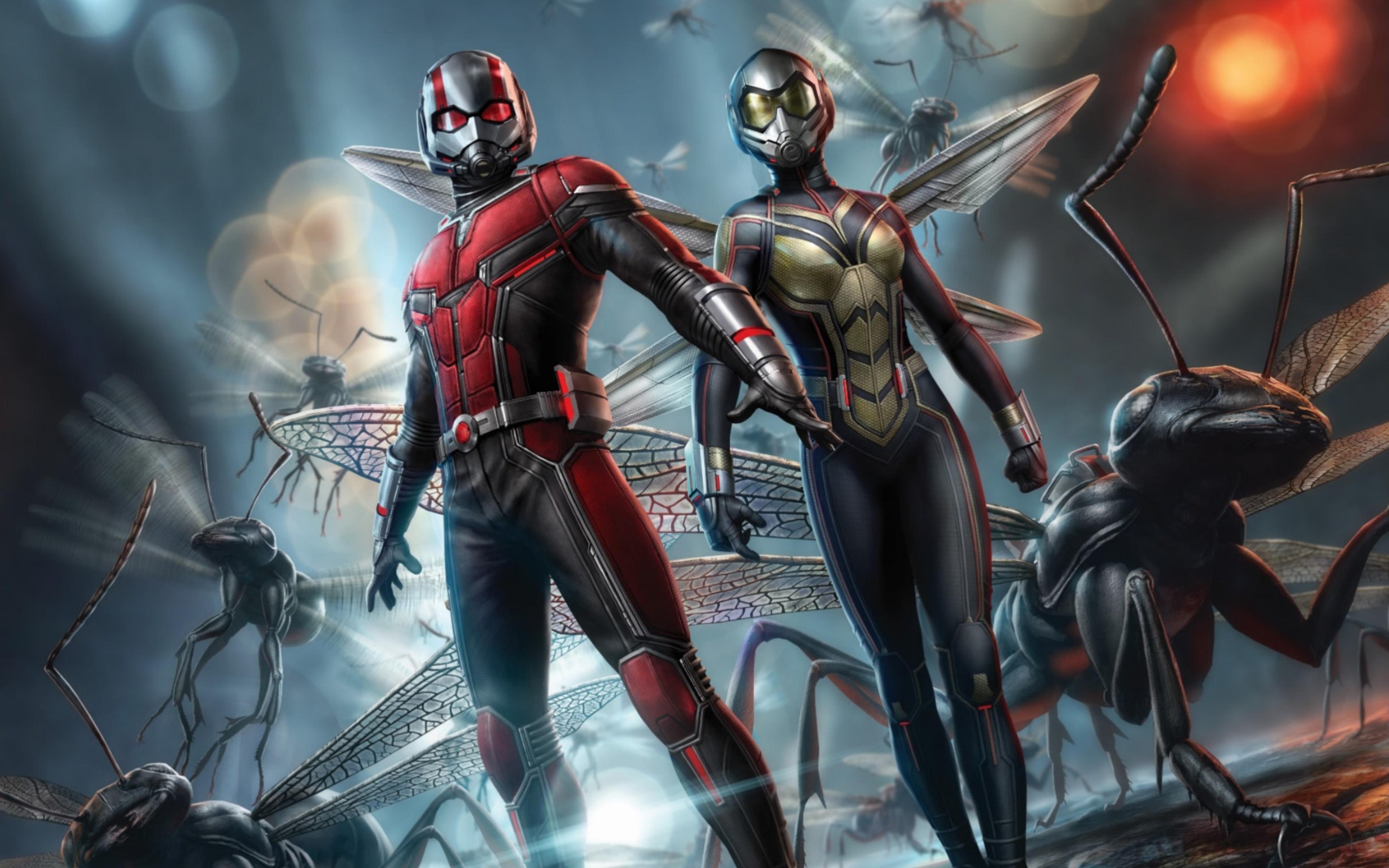 Fondos de pantalla La avispa y Ant Man