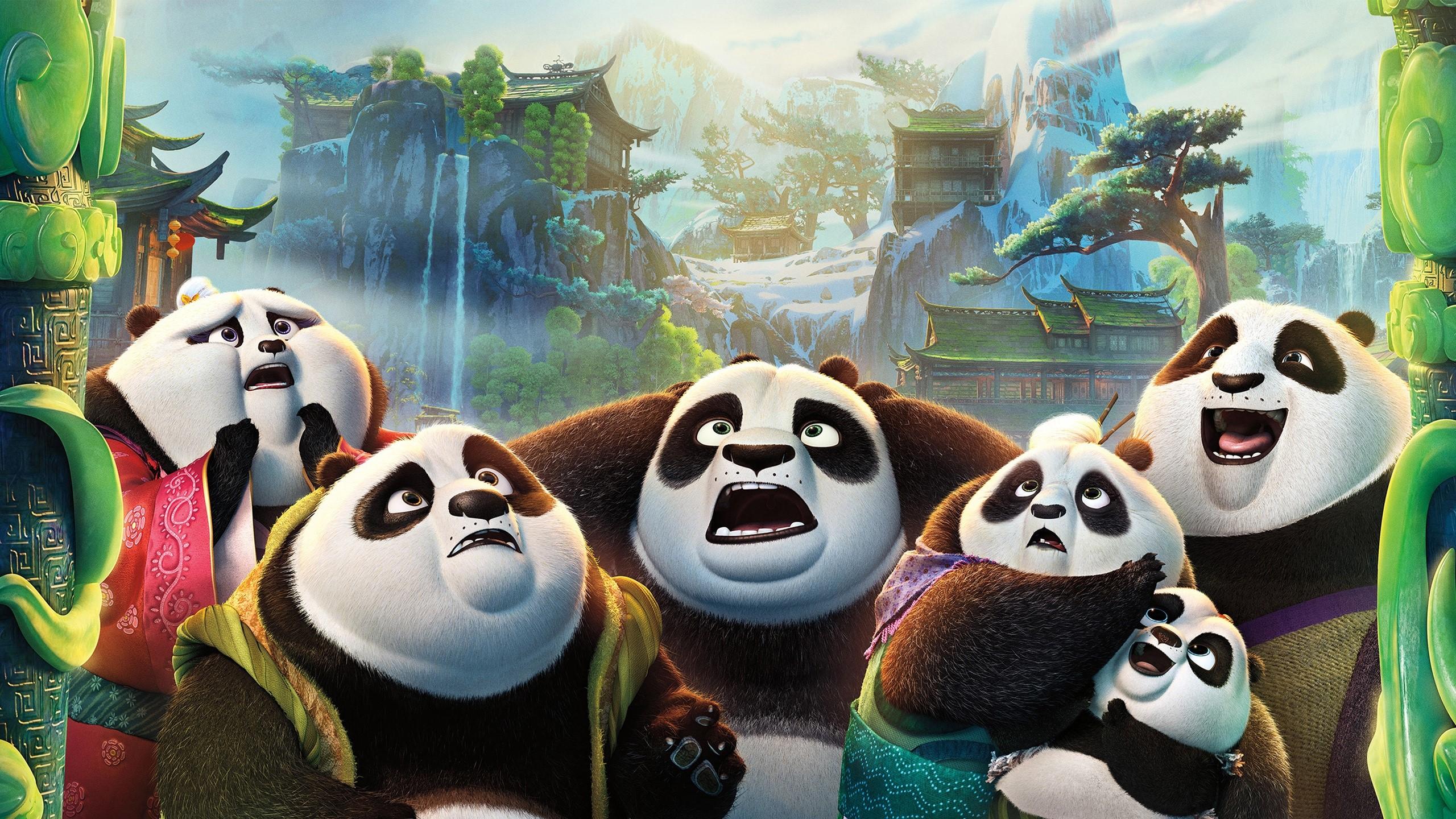 Wallpaper Po's family in Kung Fu panda