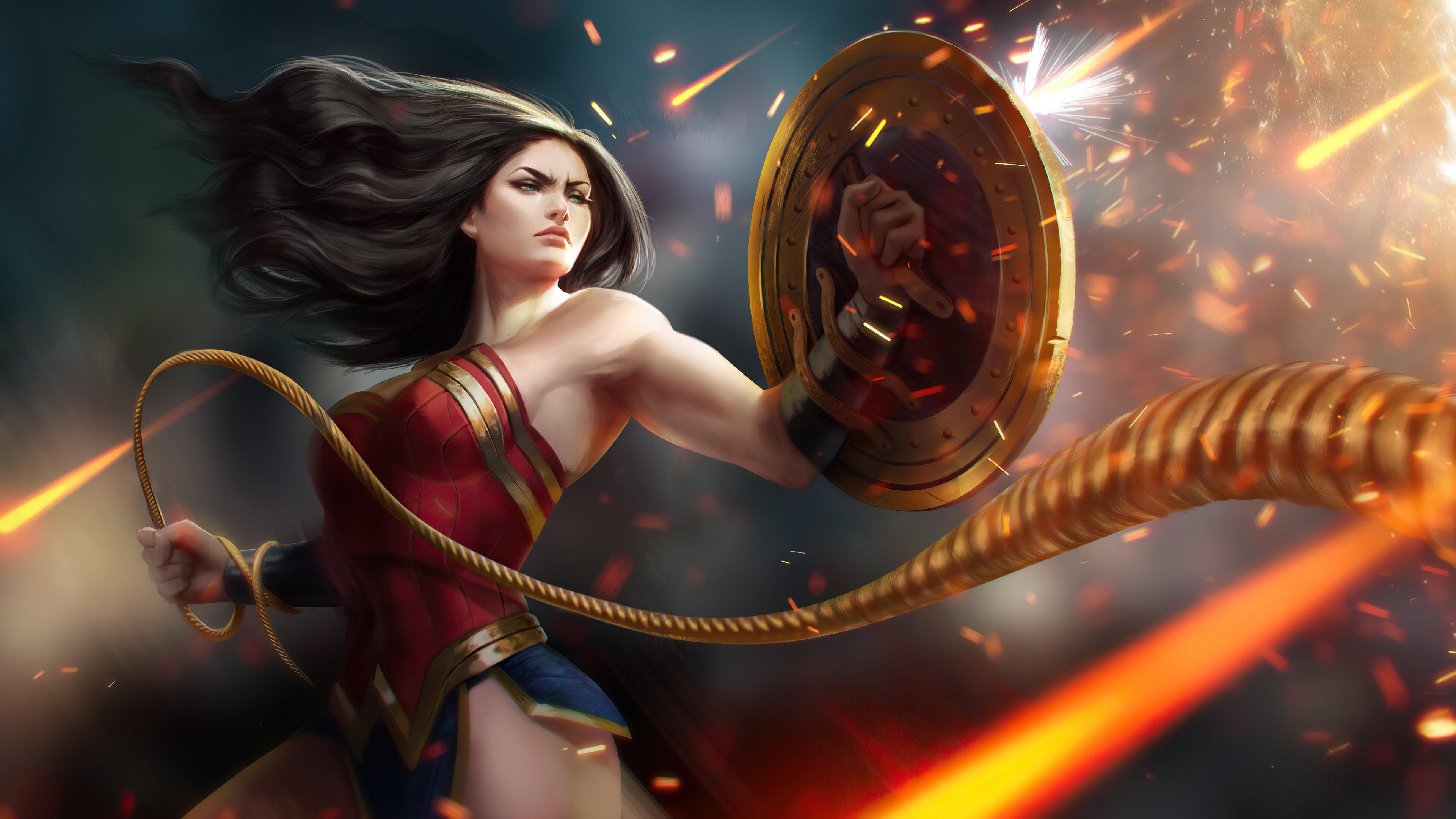 Fondos de pantalla La mujer maravilla como guerrera