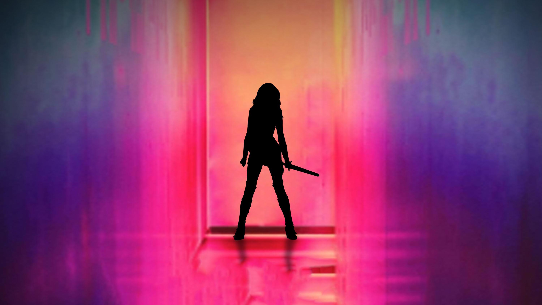 Fondos de pantalla La mujer maravilla con fondo de colores
