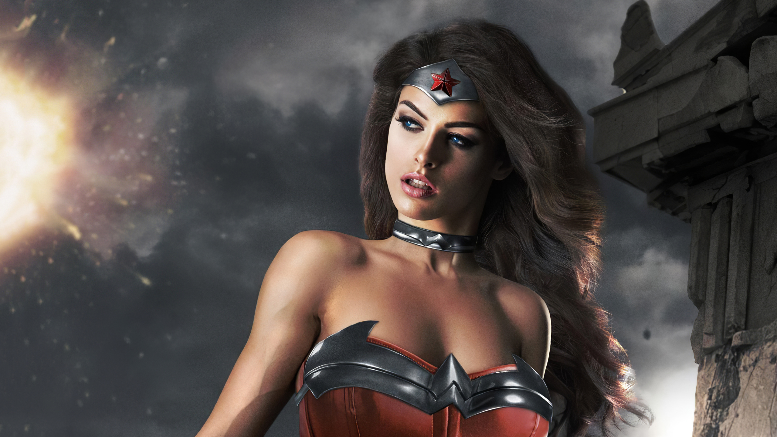 Wallpaper Wonder Woman Cosplay