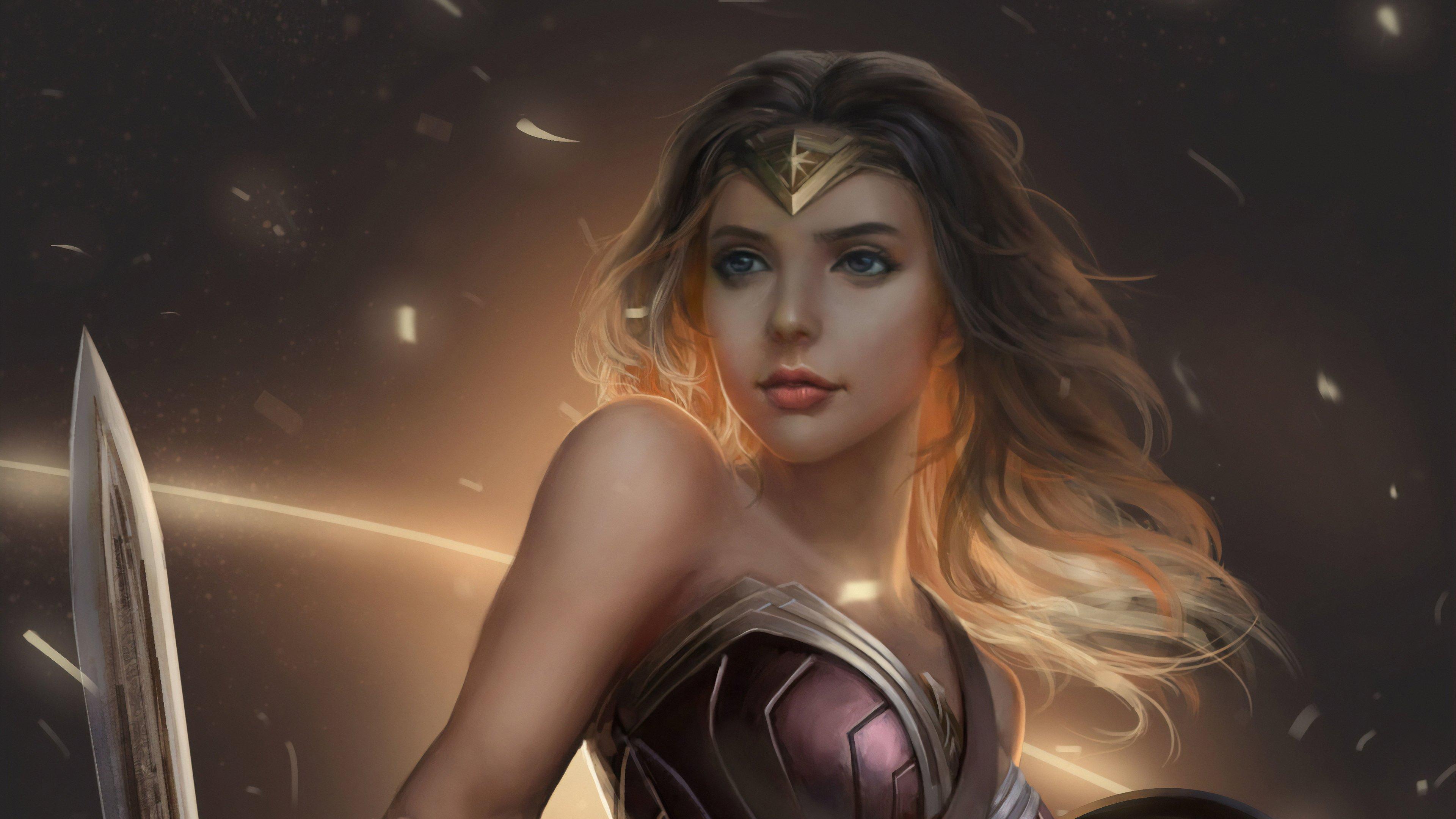Wallpaper Wonder Woman Fan Art