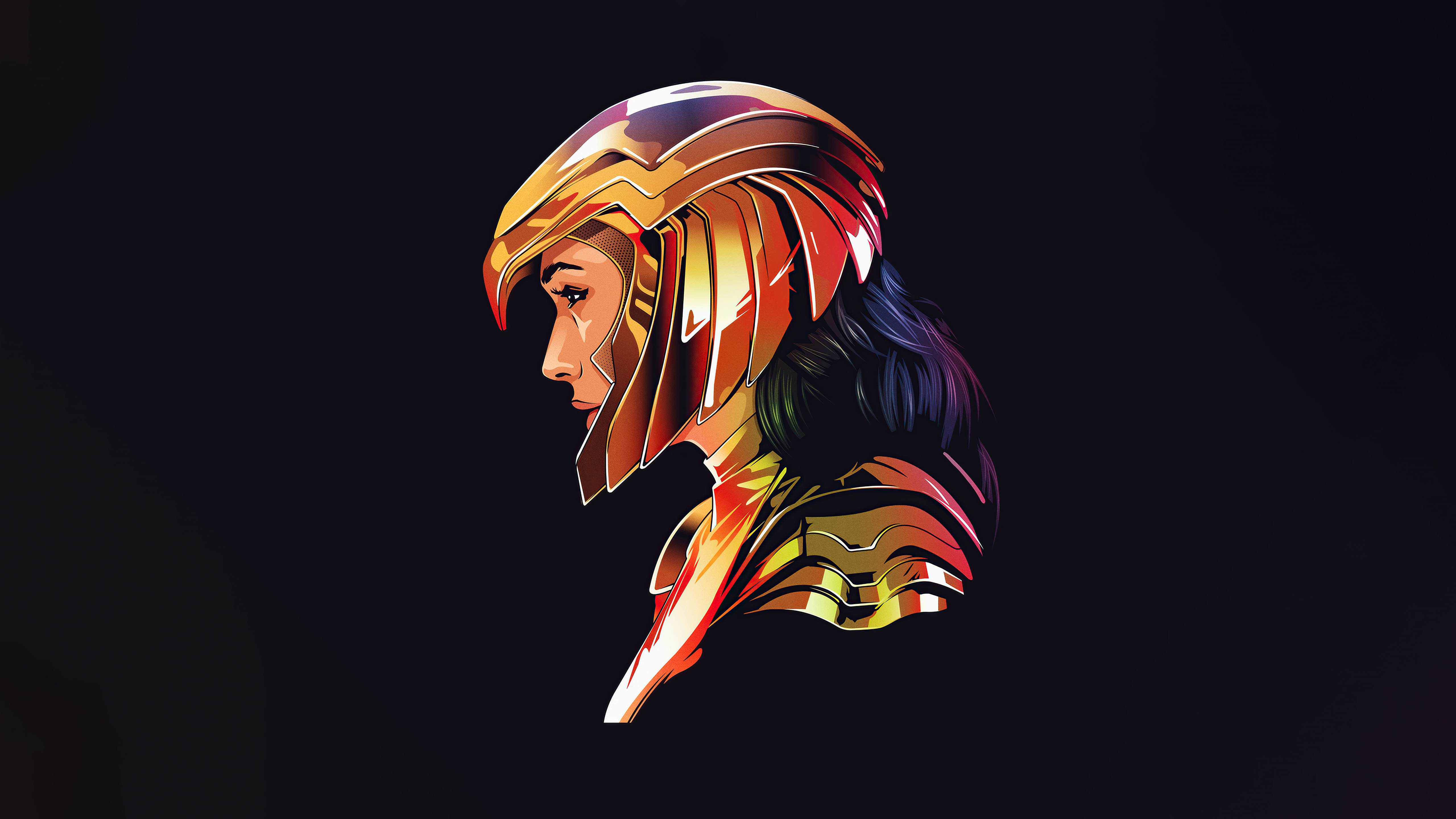 Wallpaper Wonder Woman Minimalist