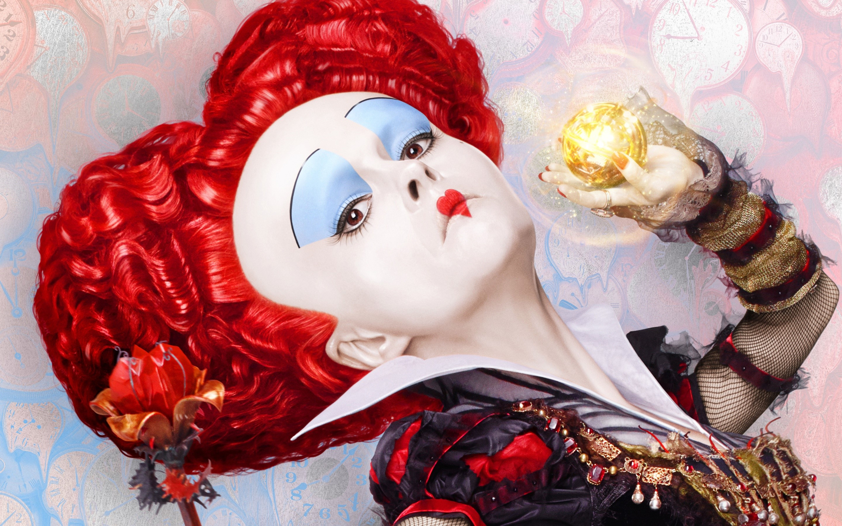 Wallpaper The red queen of Alice through the mirror