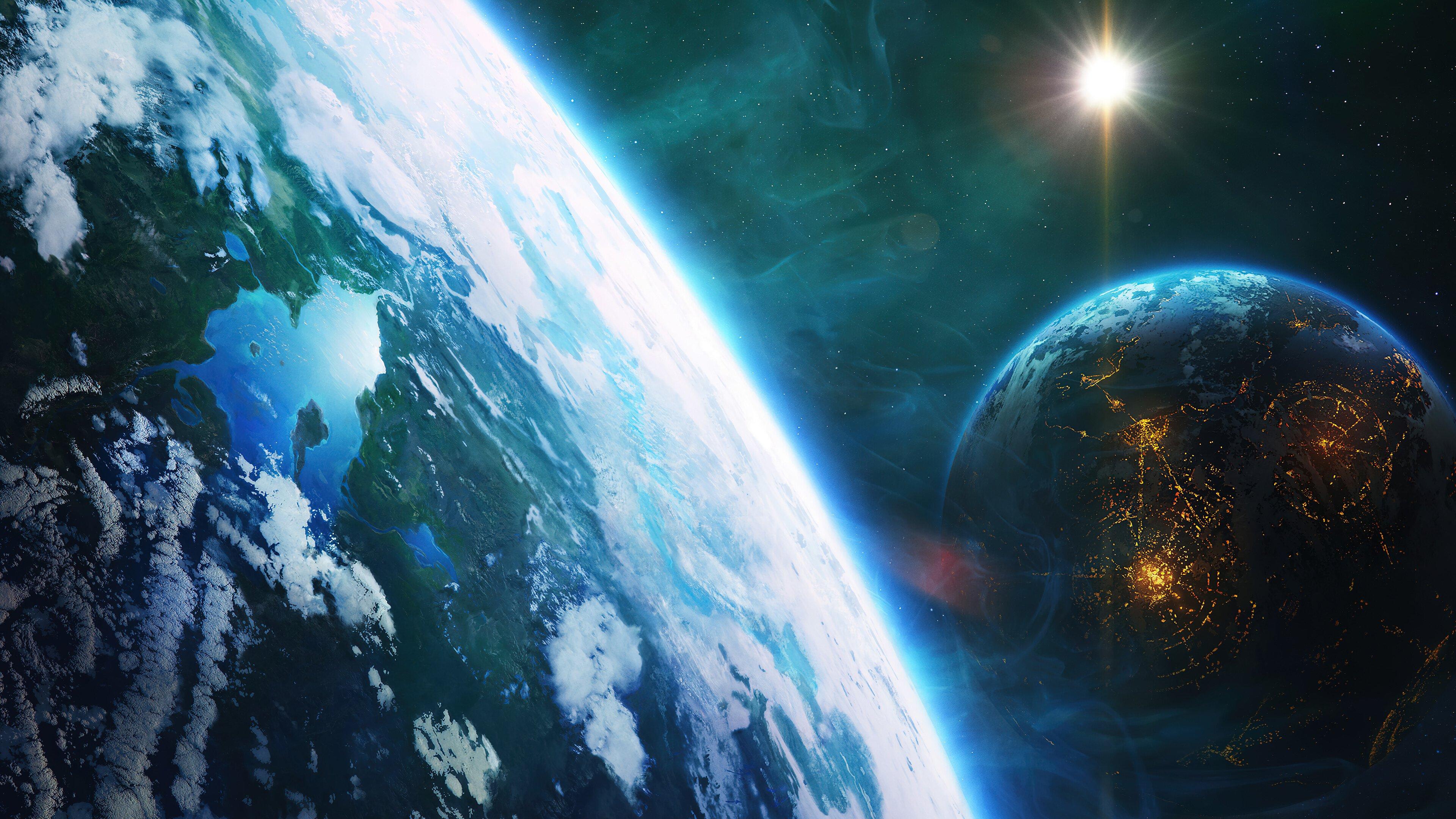 Fondos de pantalla La tierra en el espacio
