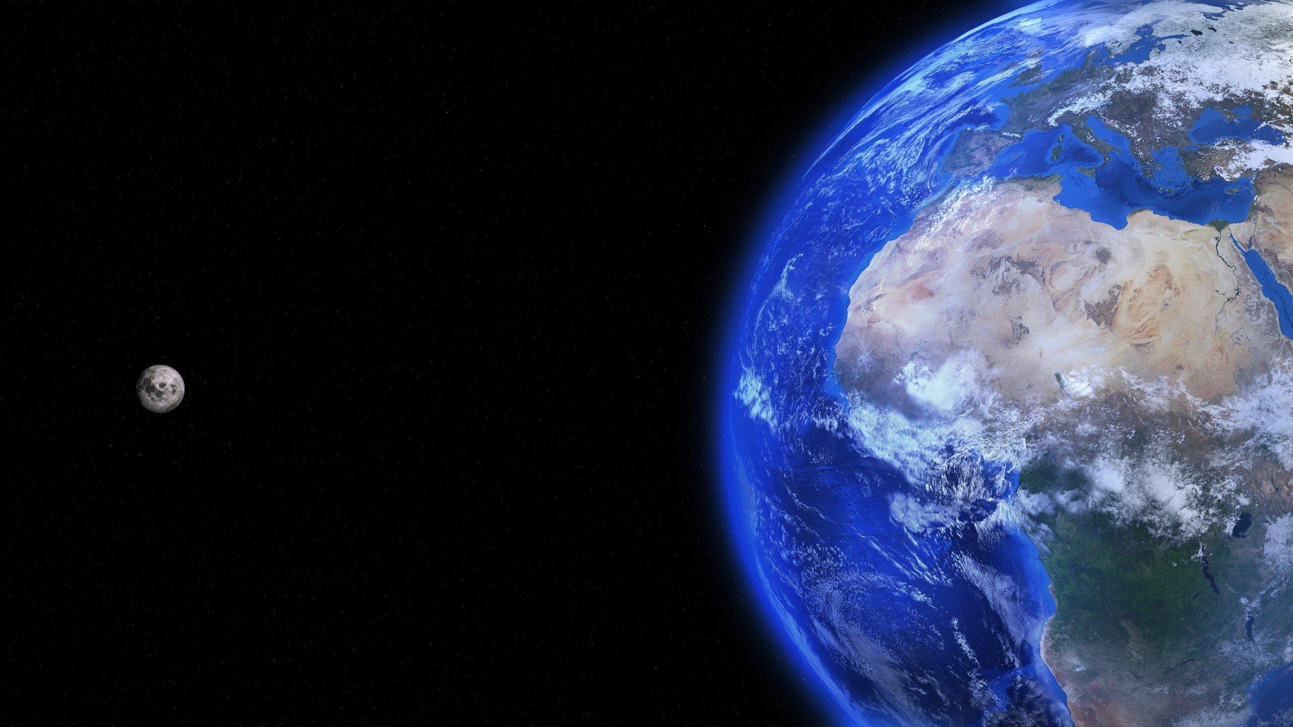 Fondos de pantalla La tierra y la luna
