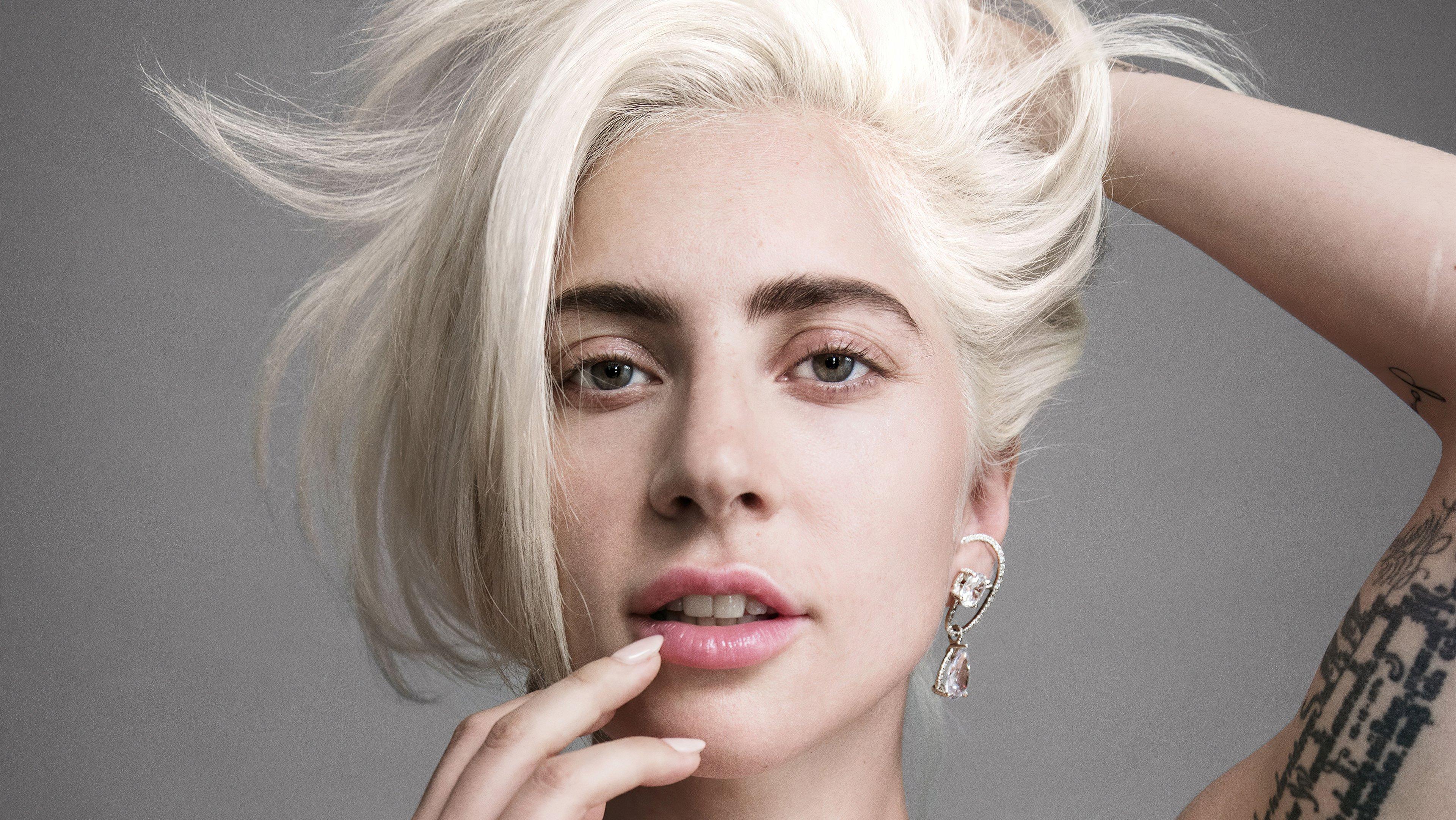 Wallpaper Lady Gaga without makeup 2021