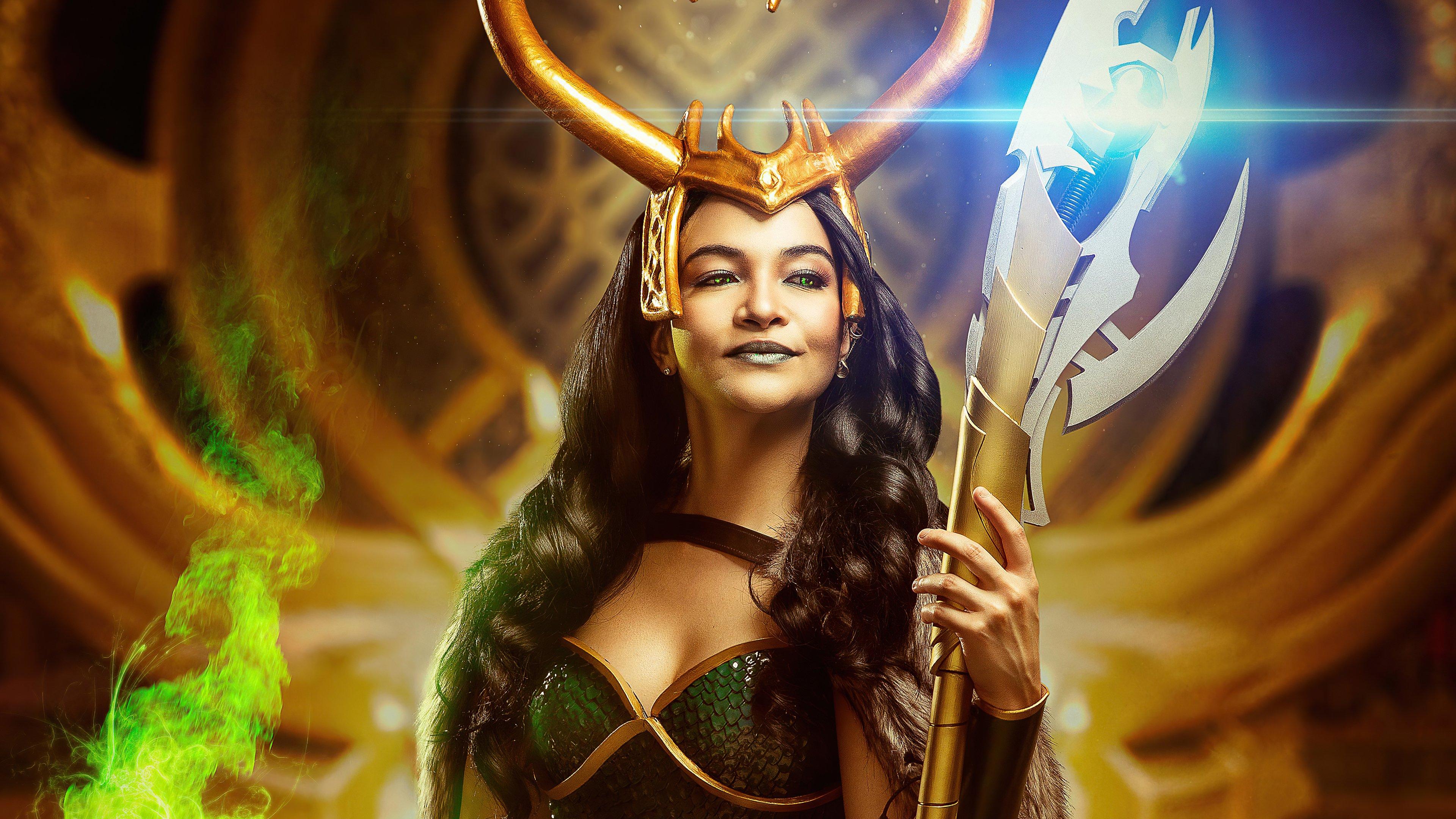 Wallpaper Lady Loki Cosplay