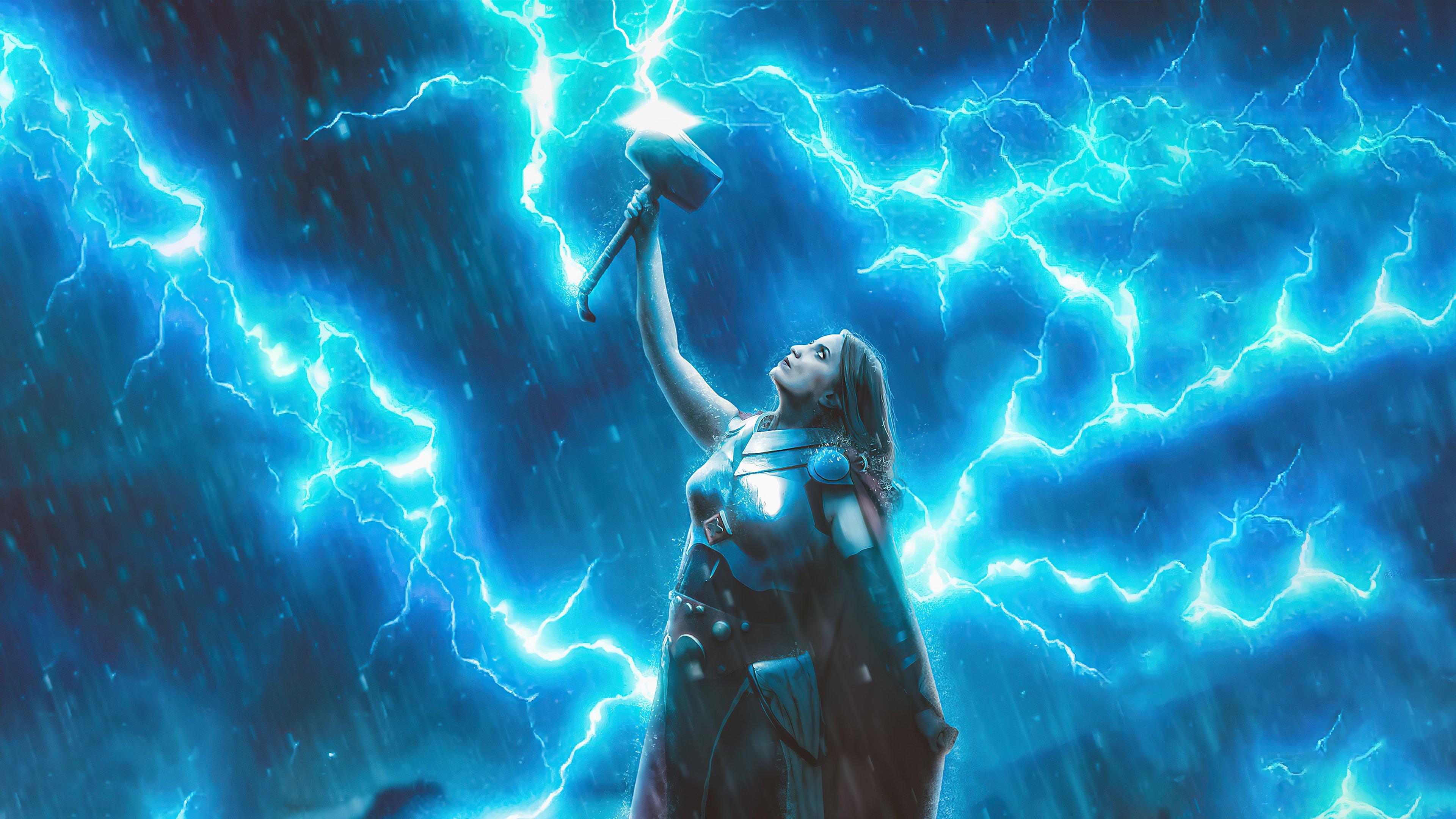 Wallpaper Lady Thor god of thunder