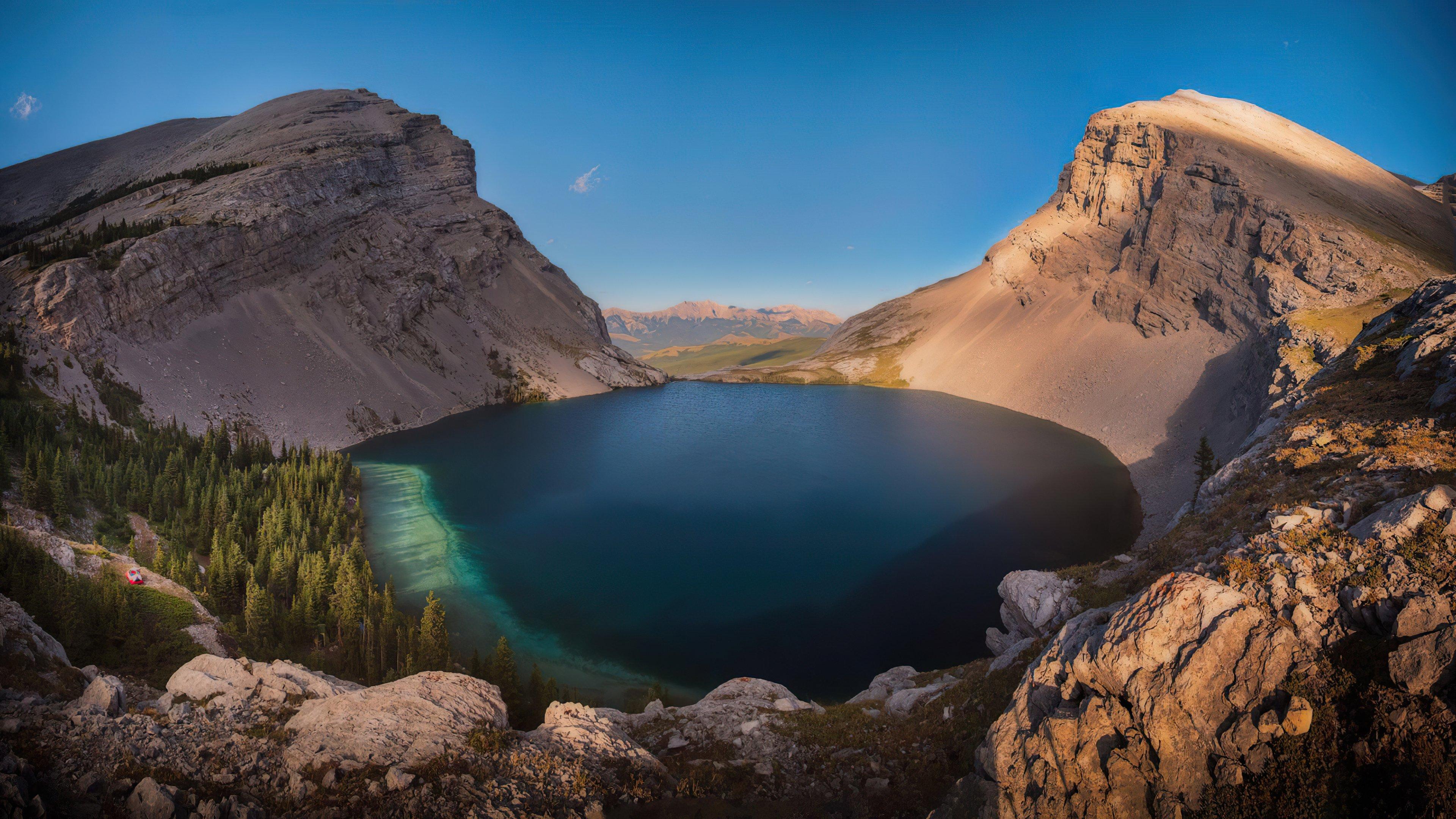Fondos de pantalla Lago Carnavron en Kananaskis Alberta