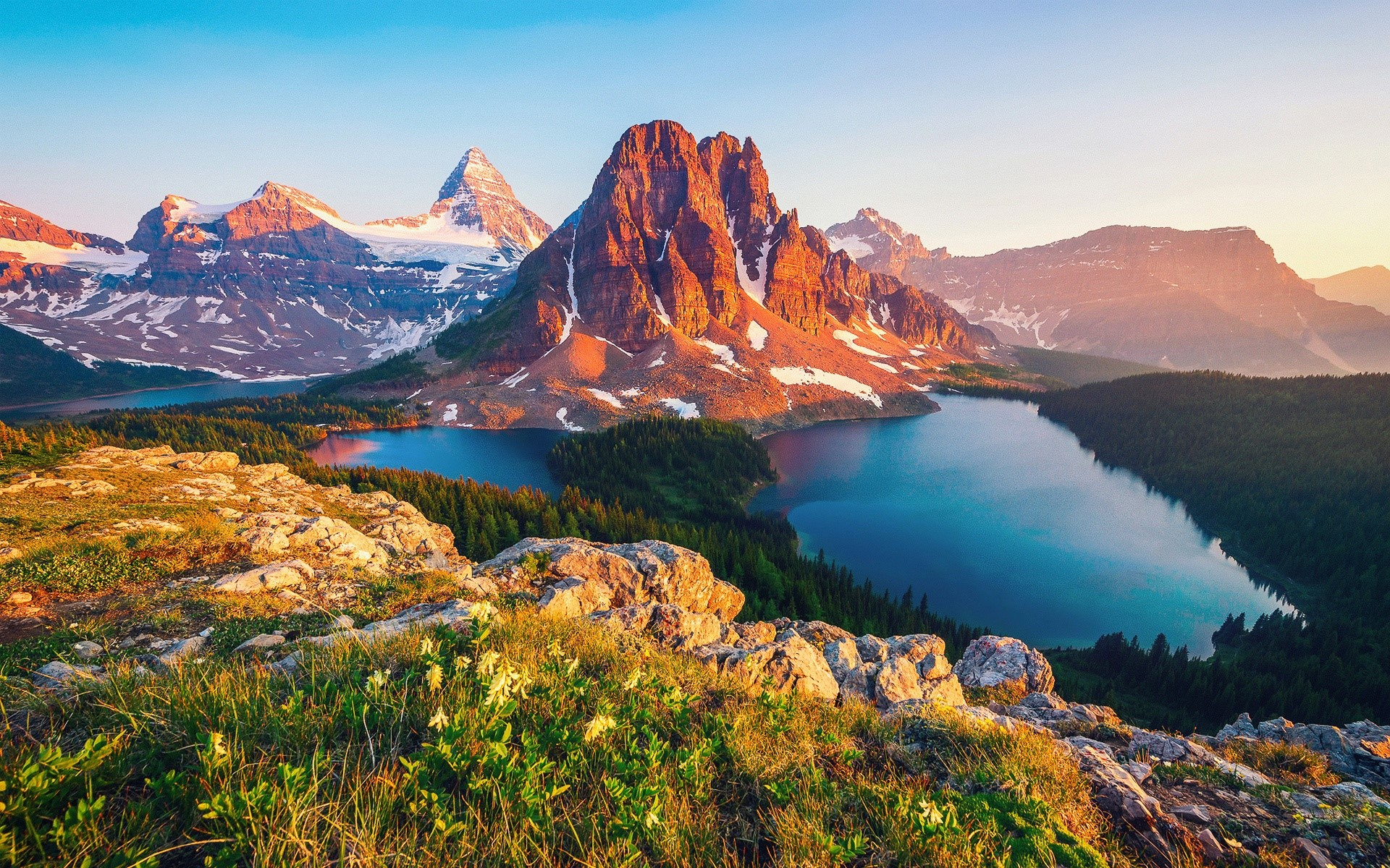 Wallpaper Columbia Lake in Canada