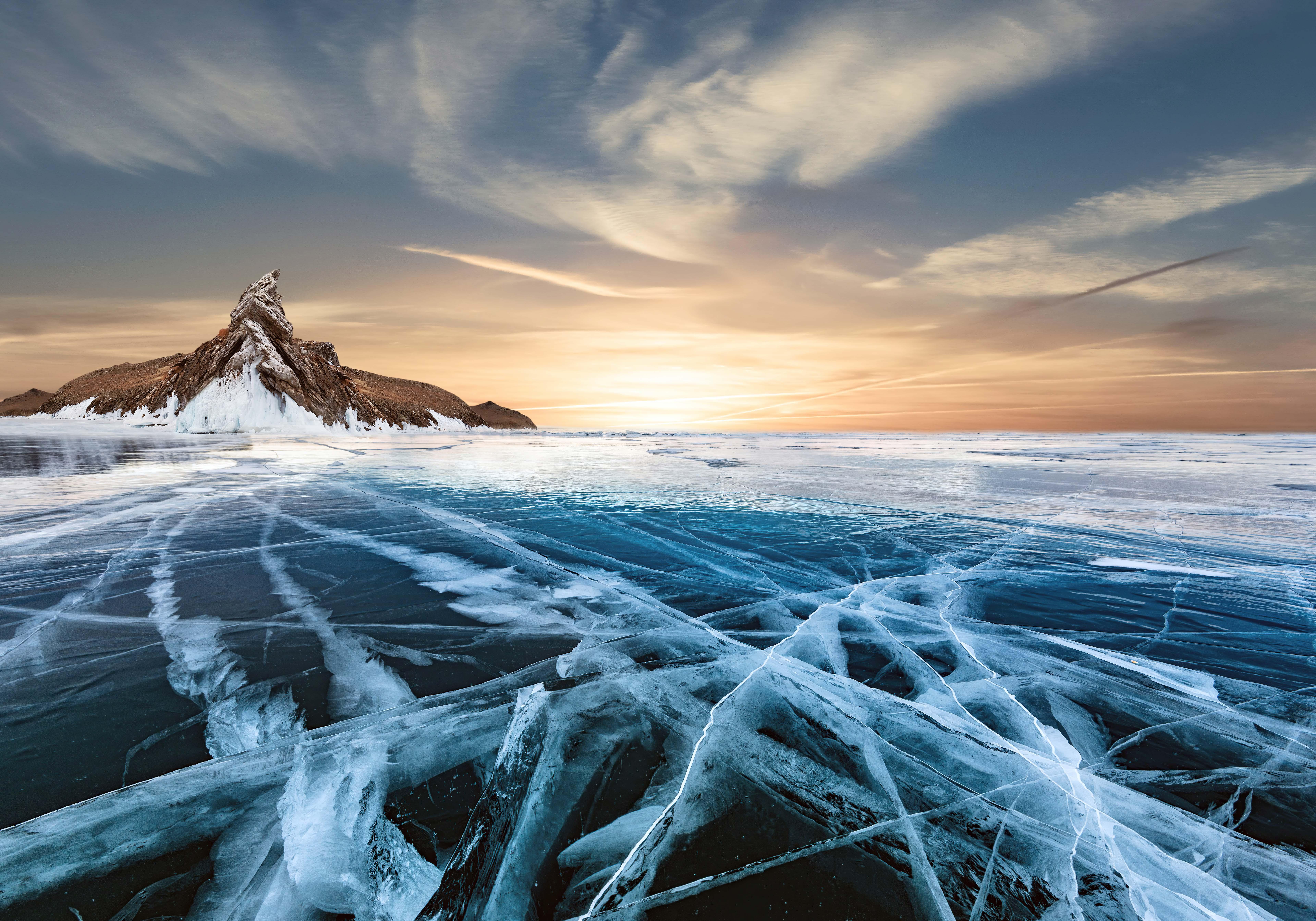 Wallpaper Frozen Lake