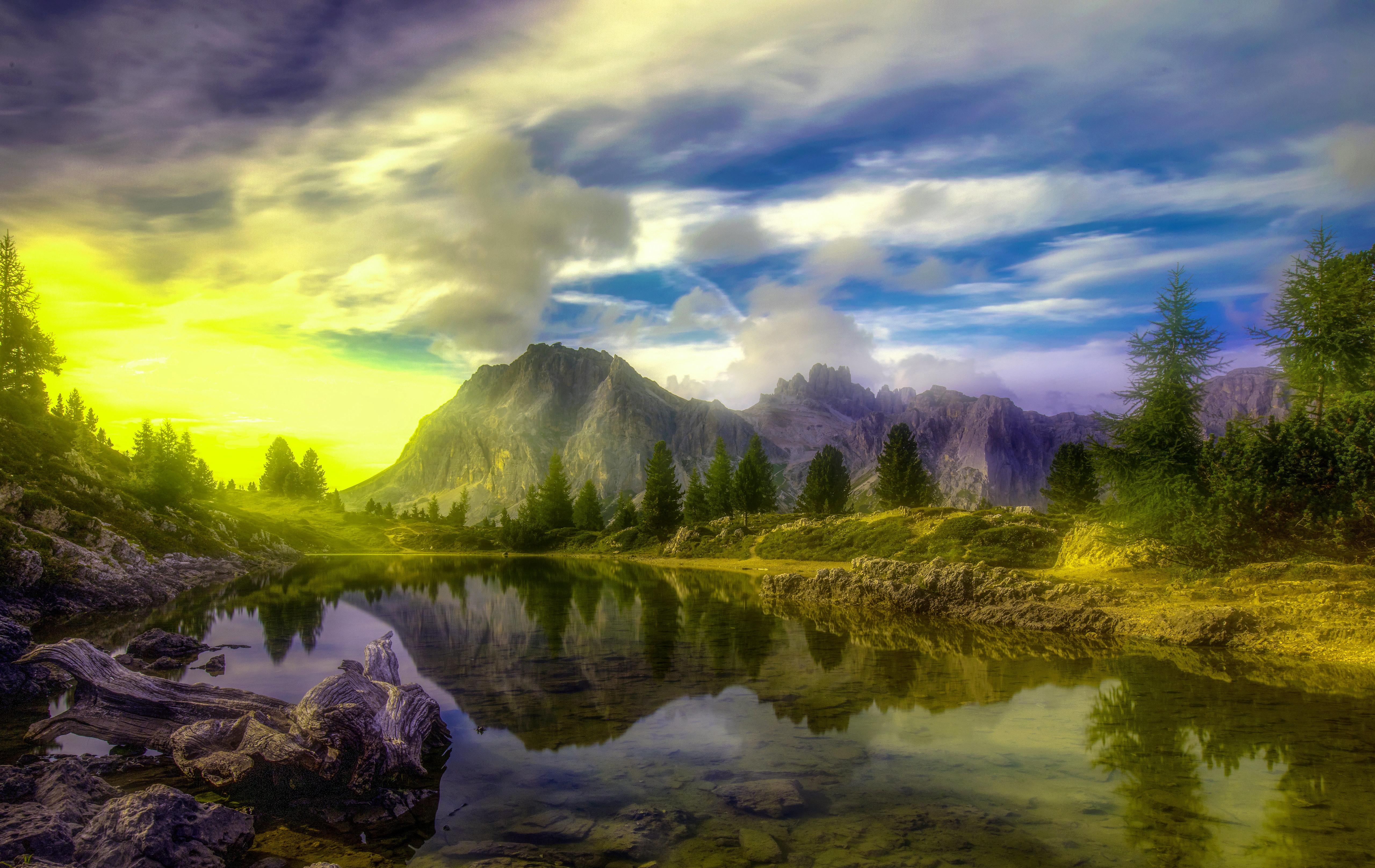 Fondos de pantalla Lago Dolomitas