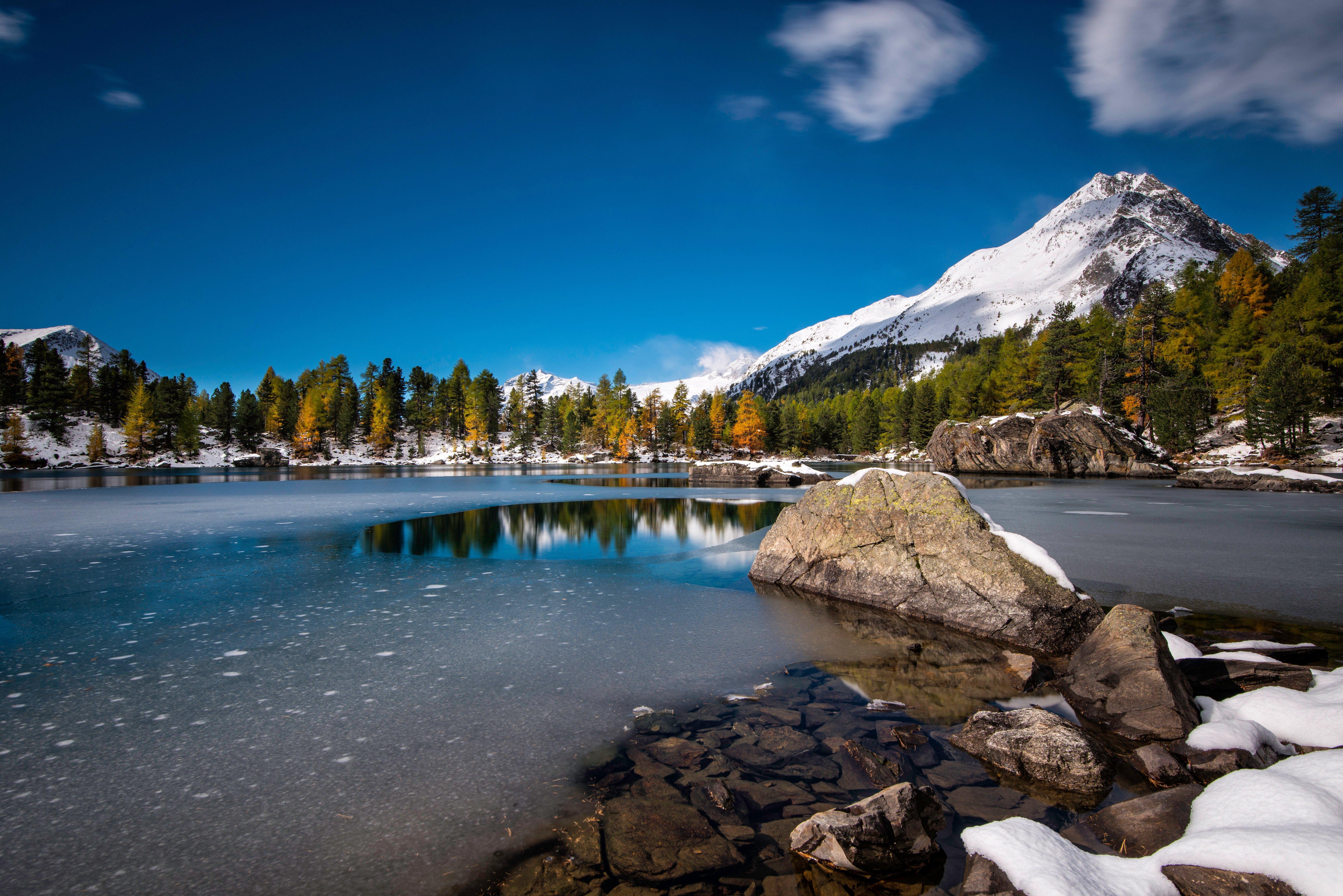 Fondos de pantalla Lago Lagh Da Saoseo en Suiza