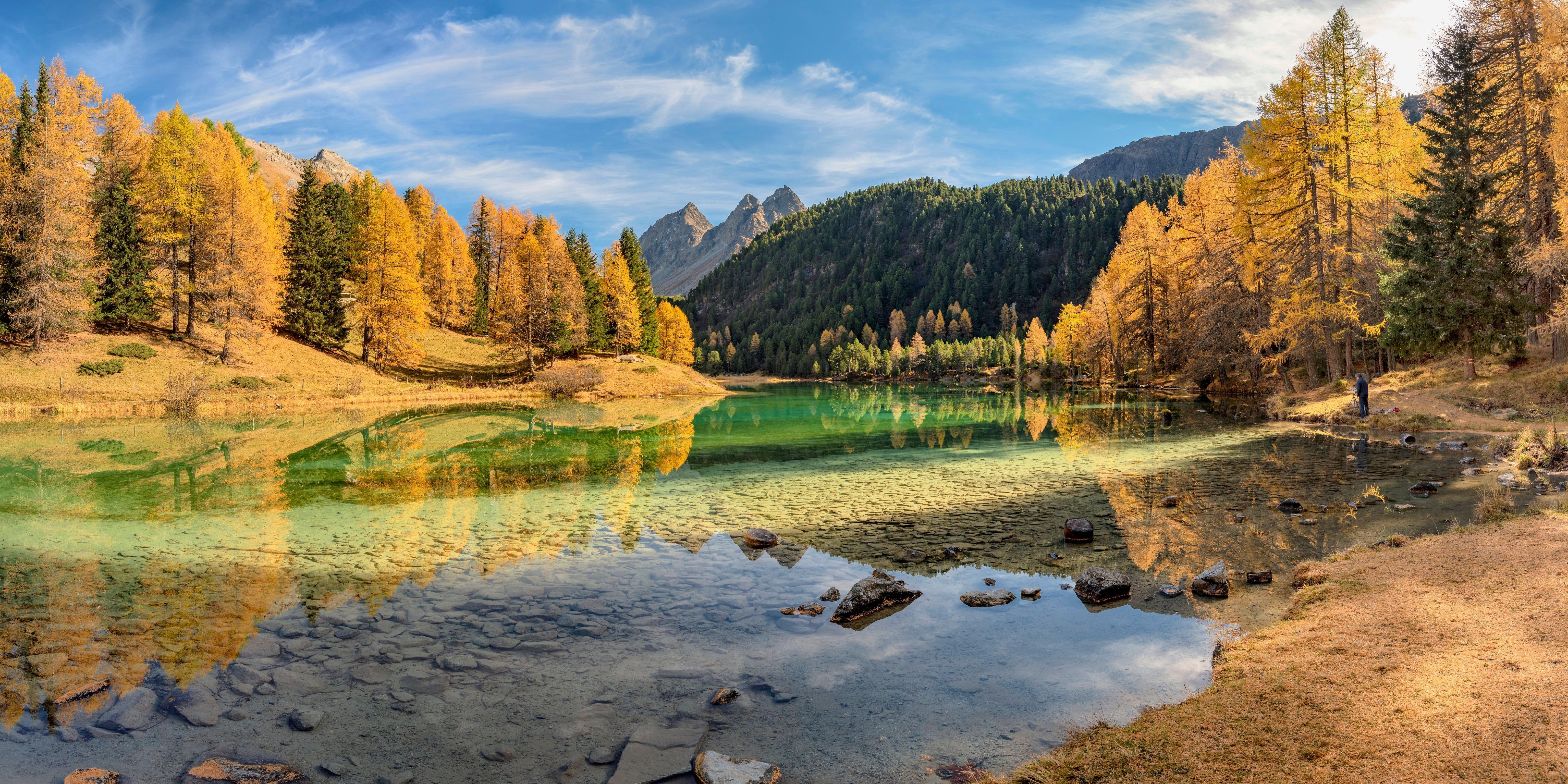 Fondos de pantalla Lago Lai da Palpuogna en Suiza