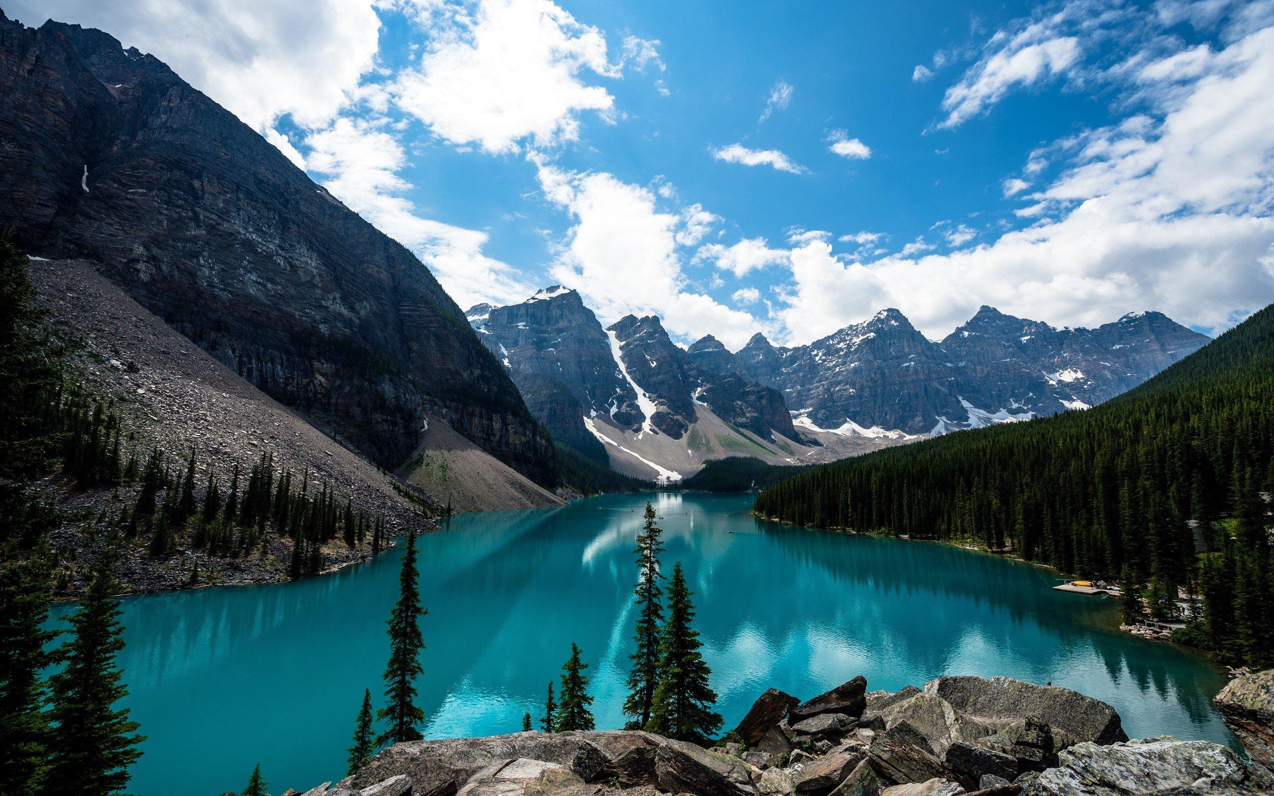 Fondo de pantalla de Lago Moraine en Canada Imágenes