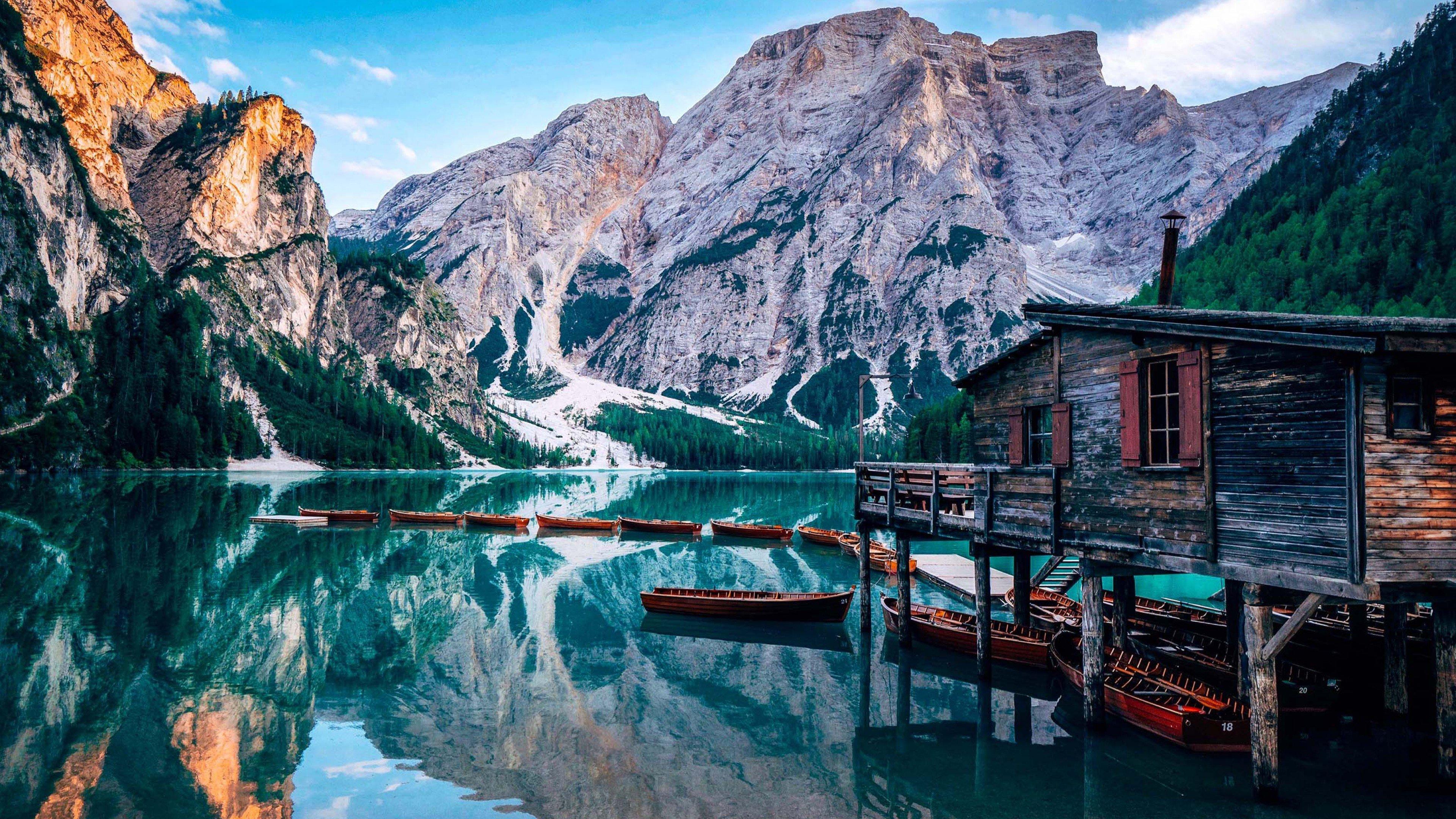 Fondos de pantalla Lago Prags en Italia