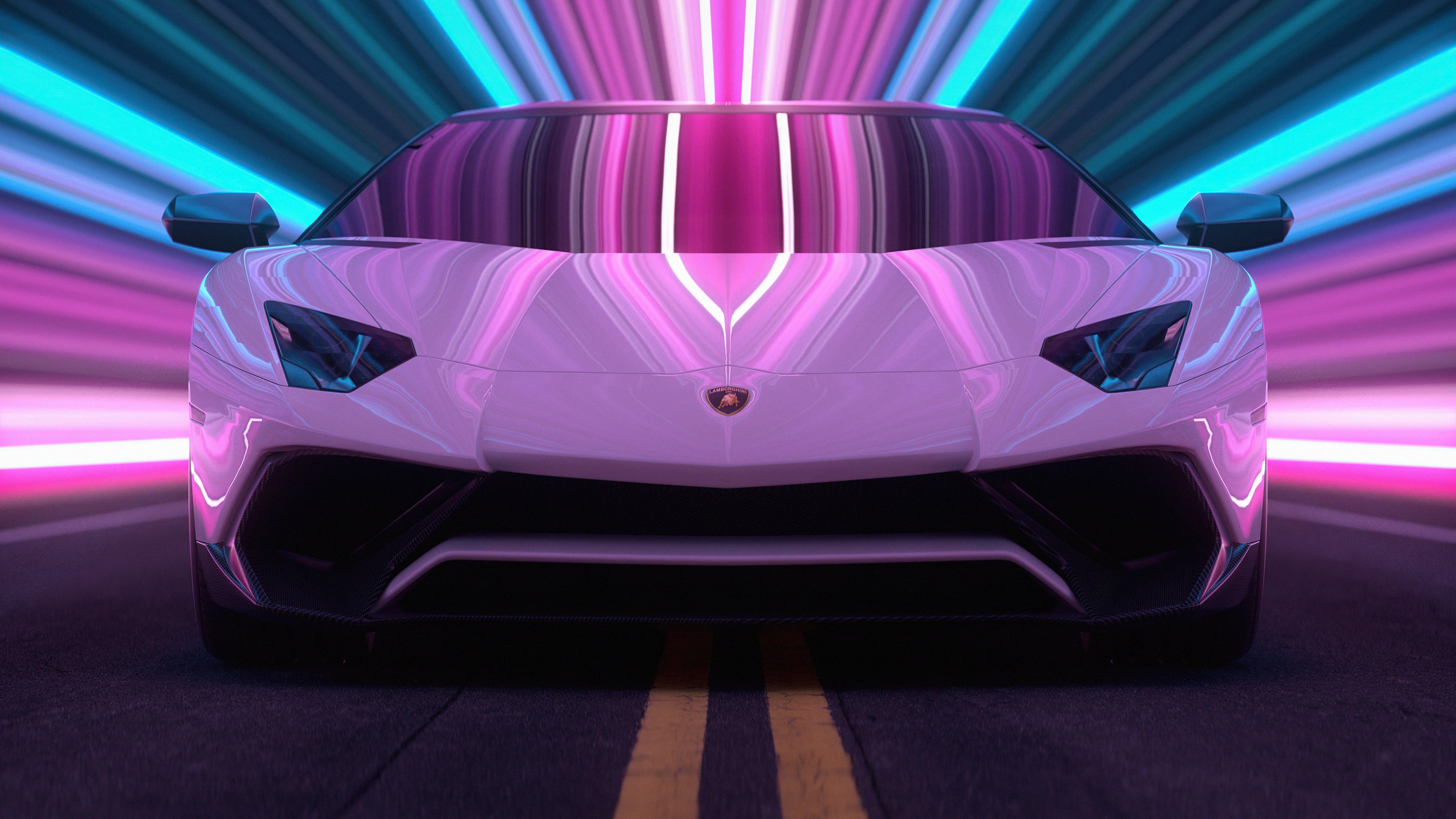 Fondos de pantalla Lamborghini Aventador CGI