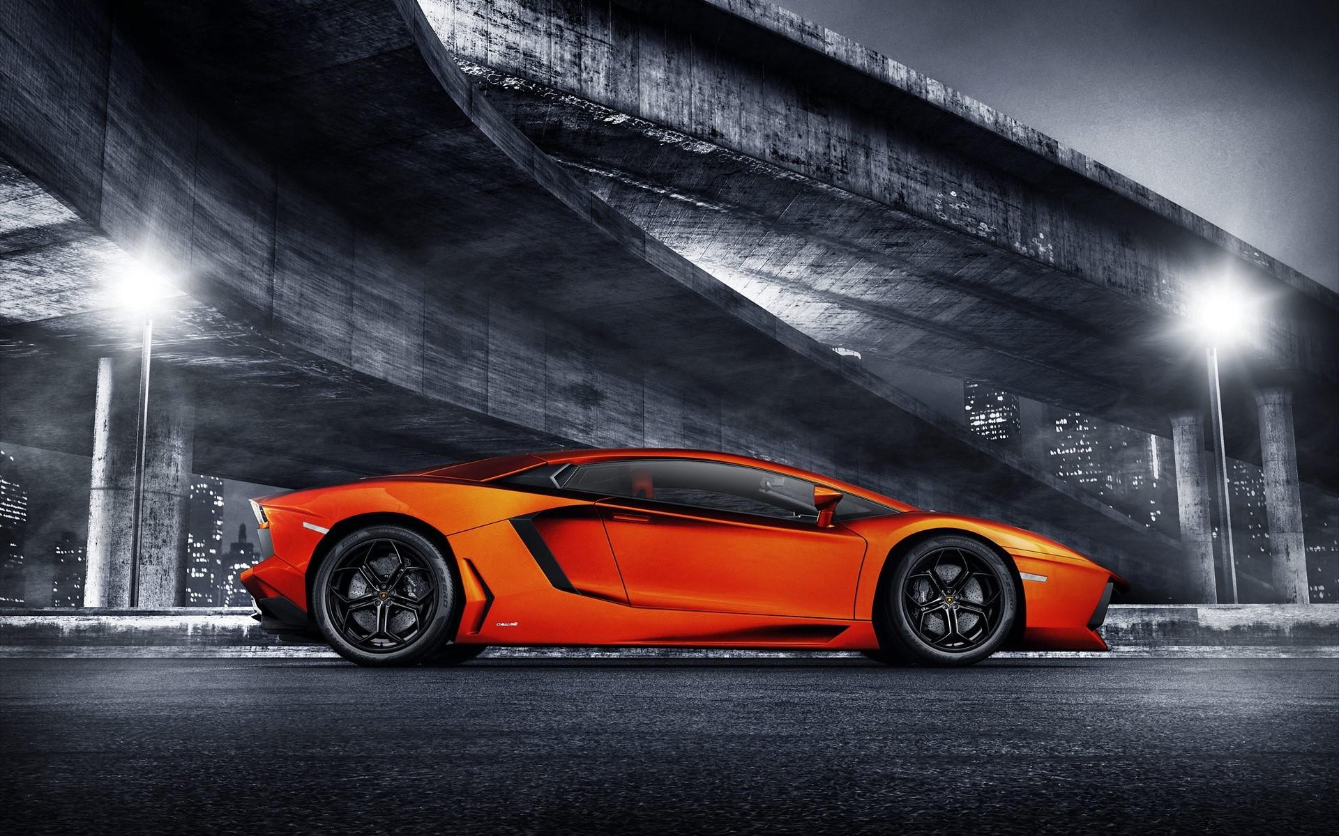 Wallpaper Lamborghini Aventador Sports Images