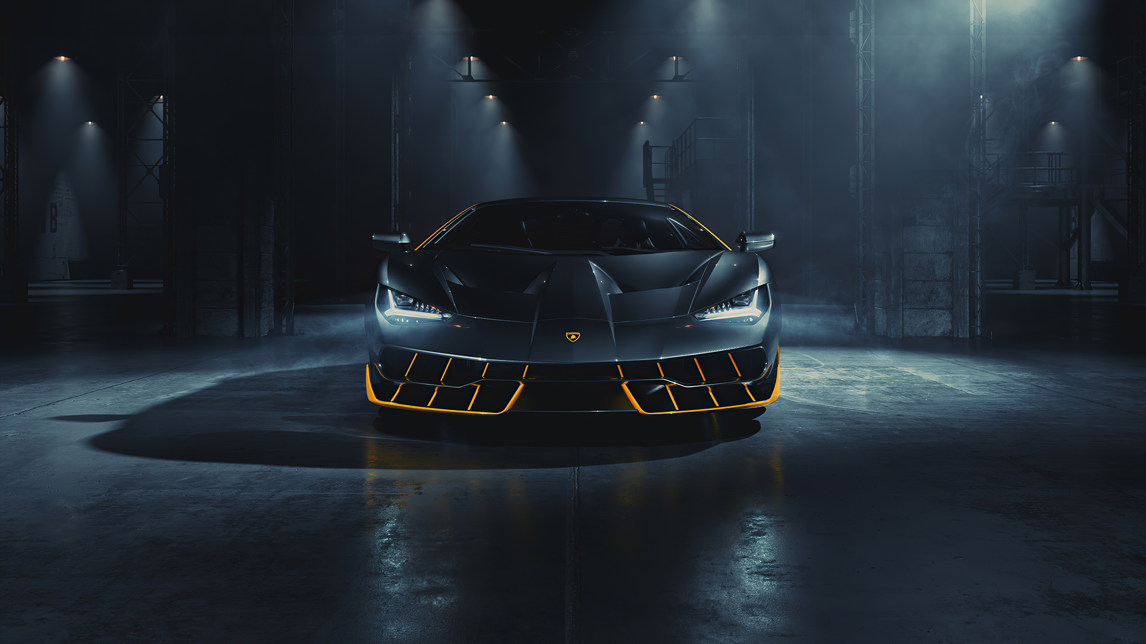 Wallpaper Black Lamborghini Centenario