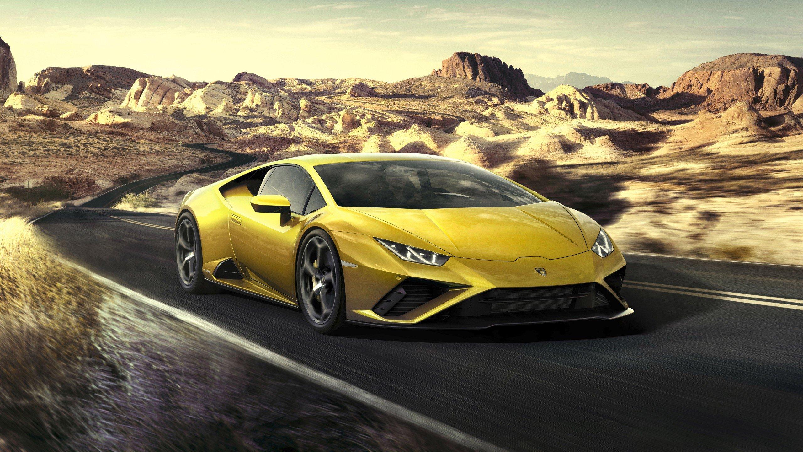 Wallpaper Yellow Lamborghini Huracan