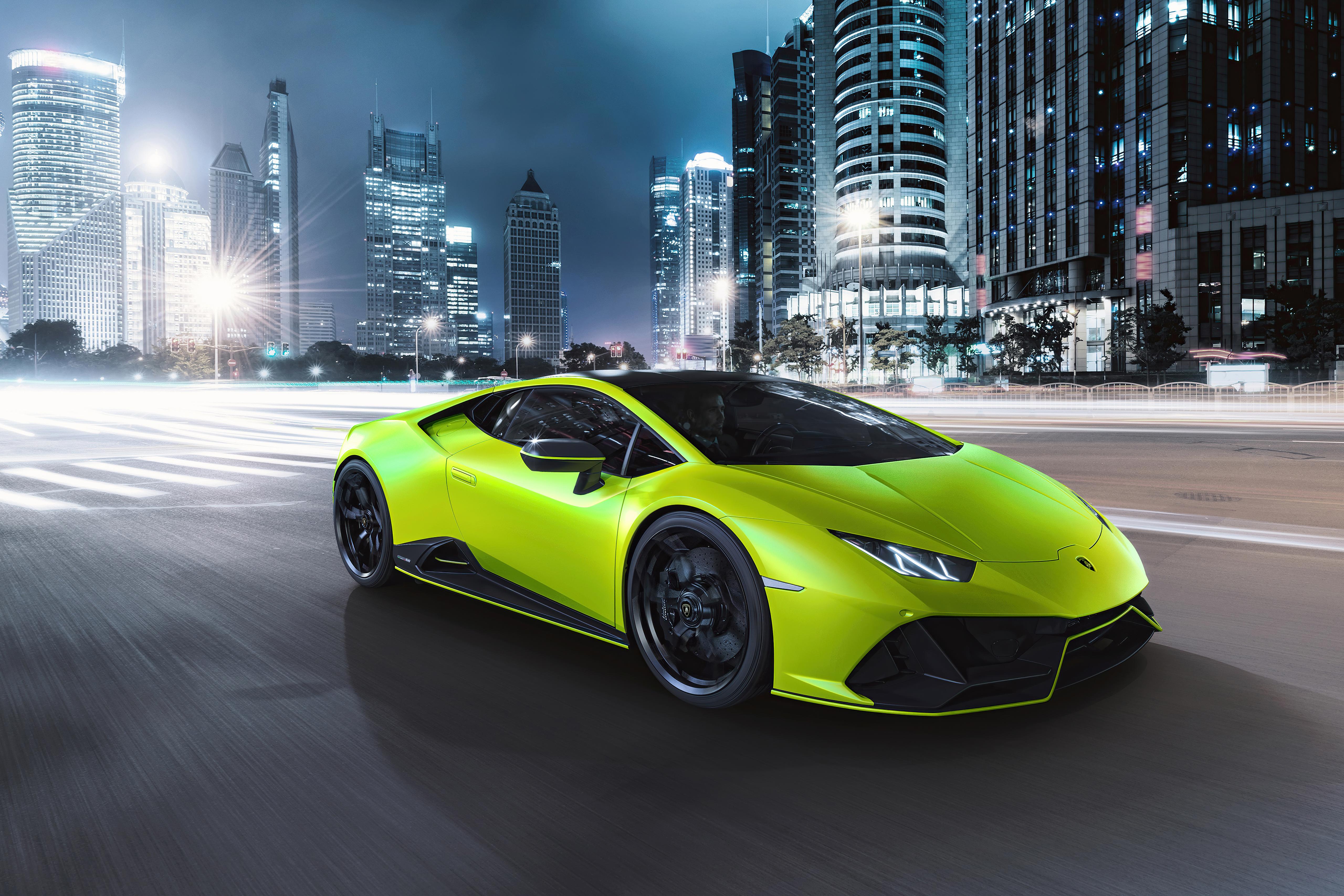 Wallpaper Lamborghini Huracan Evo Fluo Capsule 1G