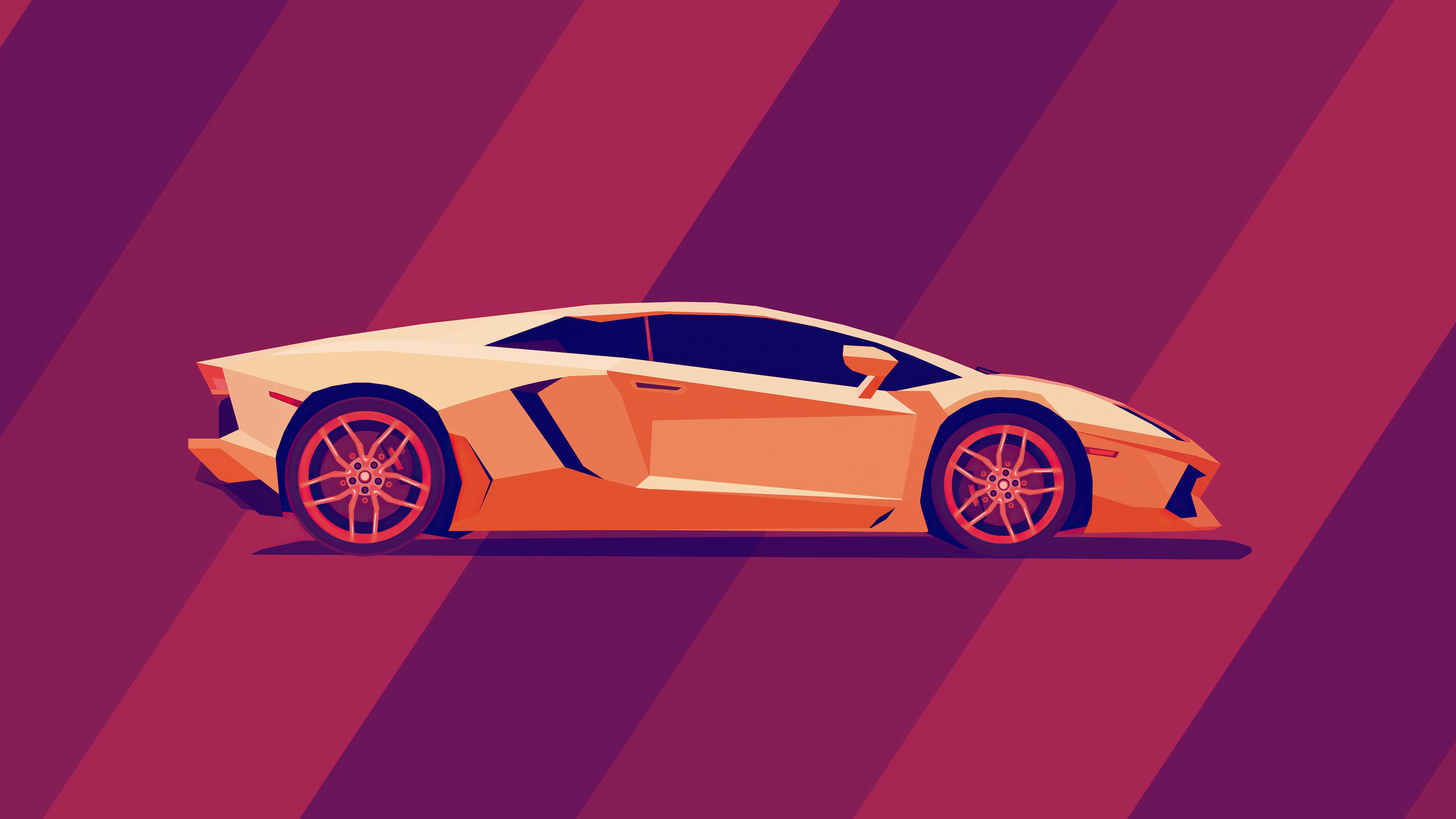 Wallpaper Lamborghini Minimal