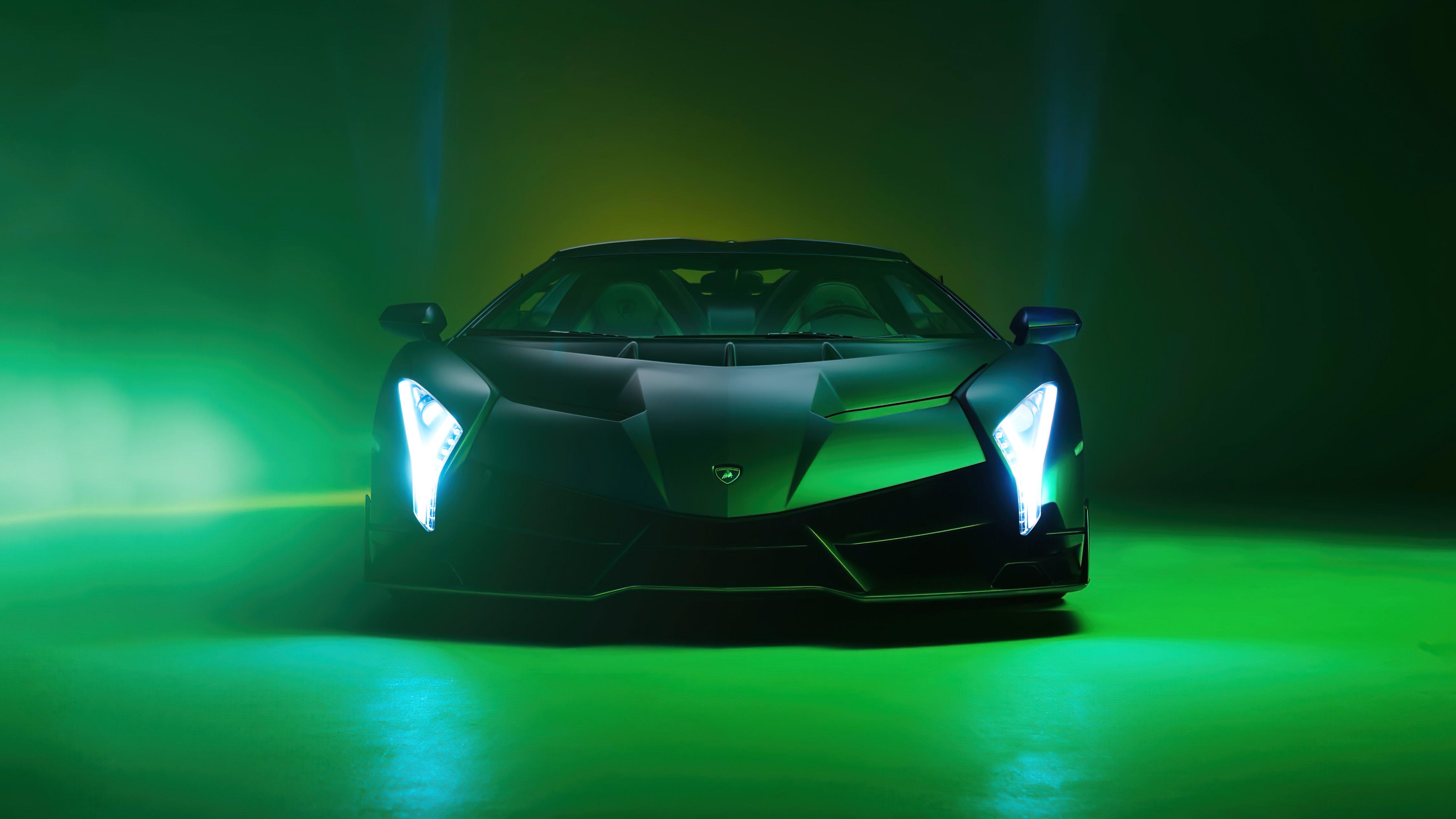 Wallpaper Lamborghini Veneno Roadster