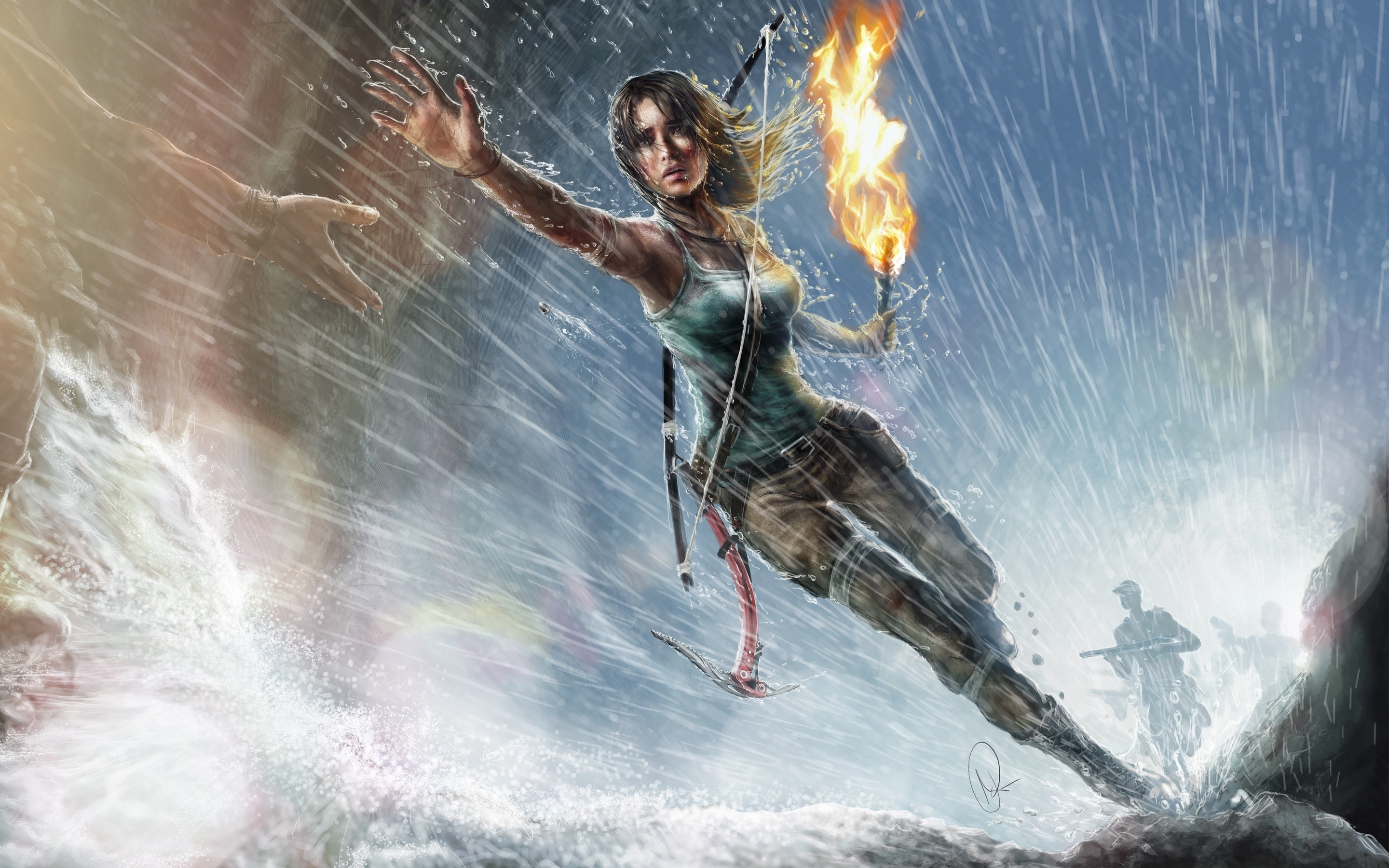 Wallpaper Lara Croft Artwork