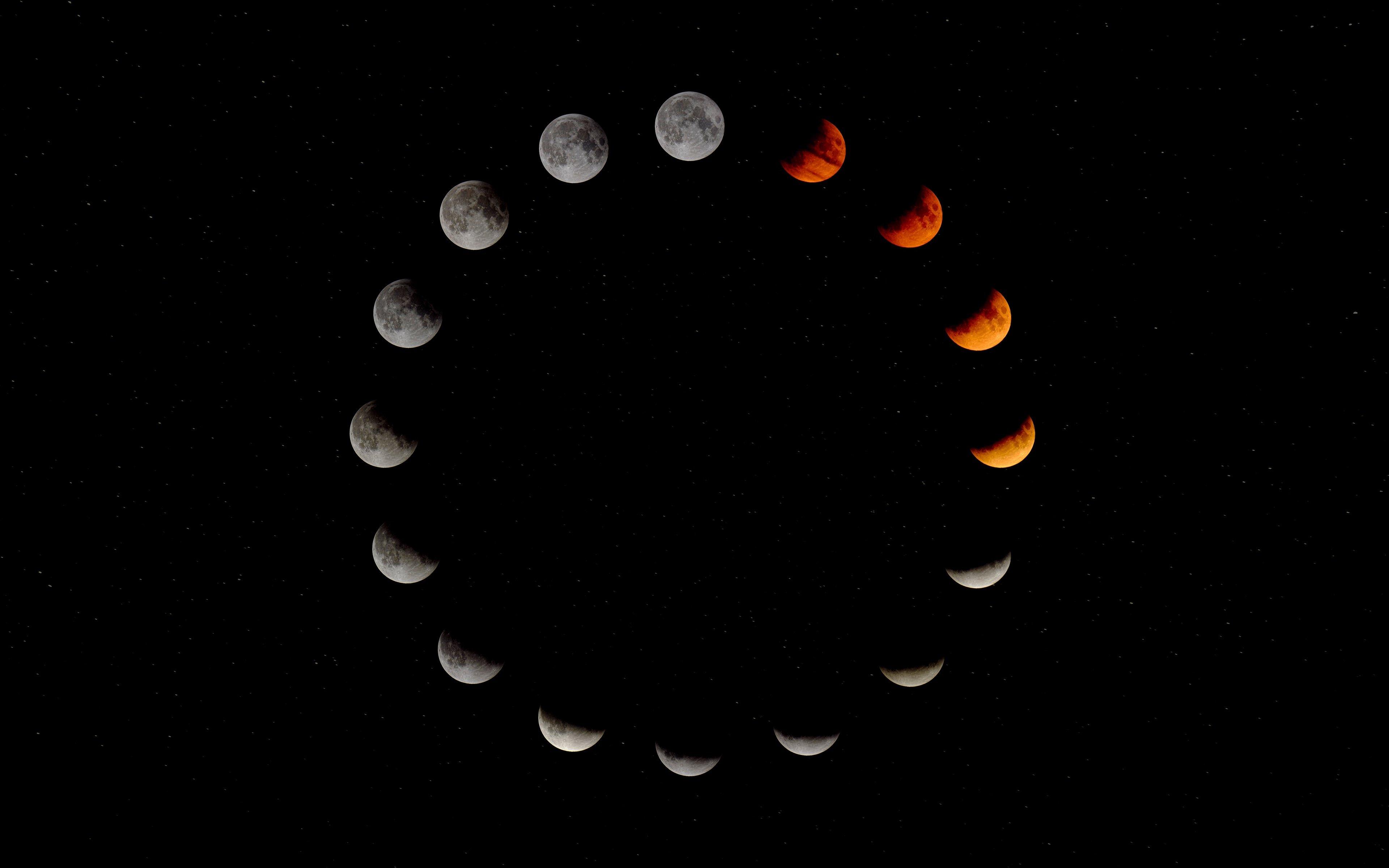 Fondos de pantalla Las fases de la luna