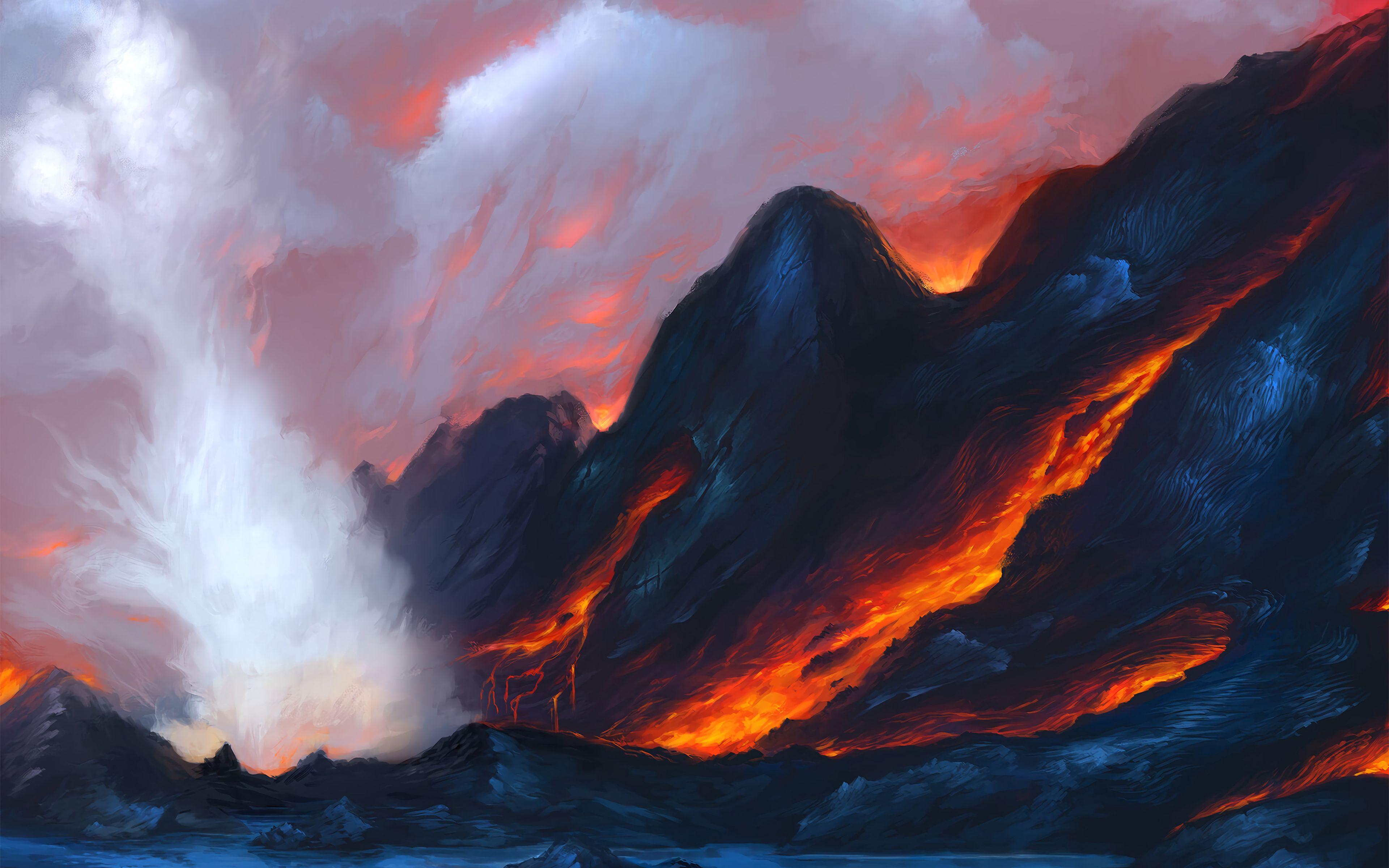 Fondos de pantalla Lava de volcán Arte