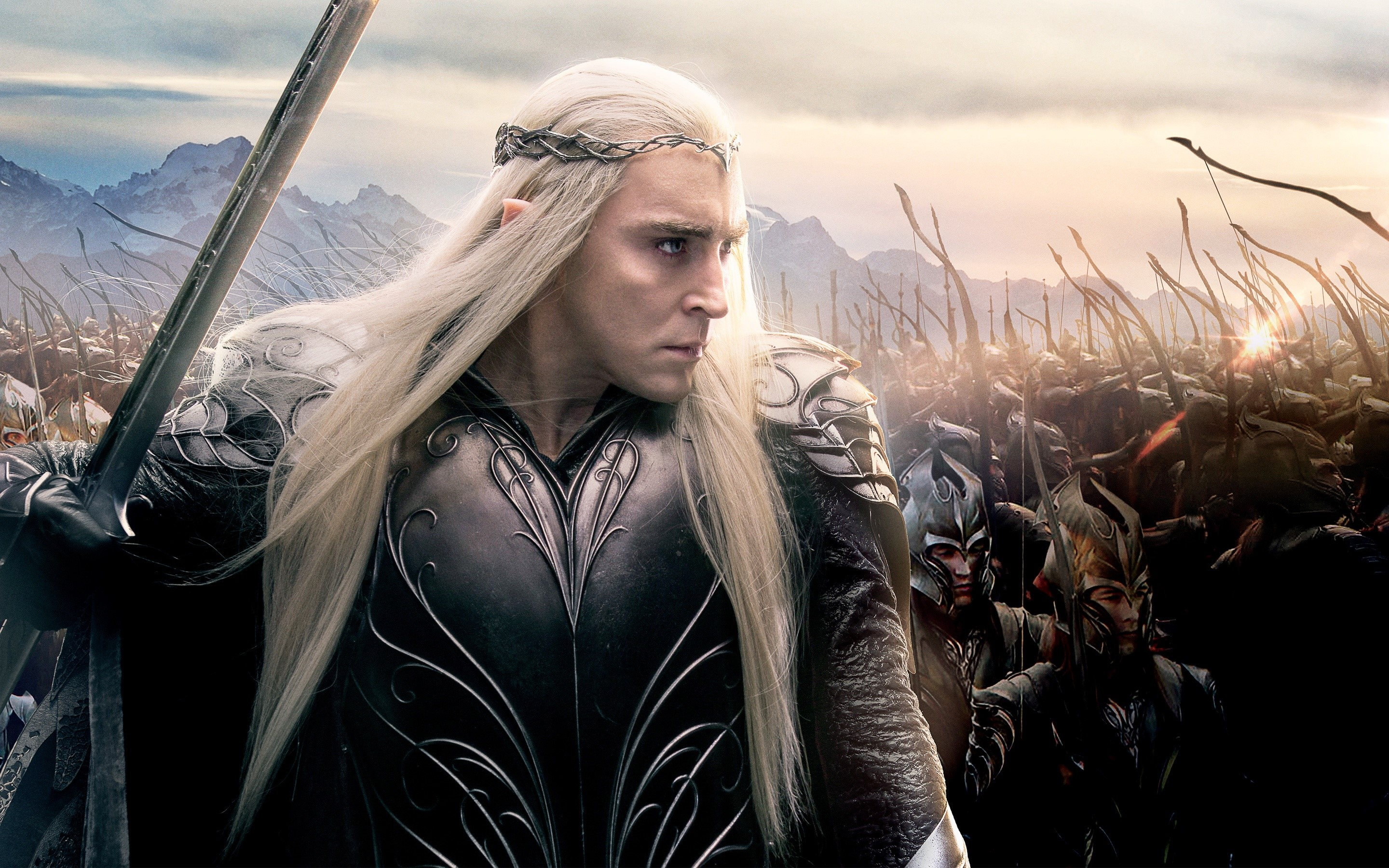 Wallpaper Lee Pace as Thranduil in the Hobbit 3