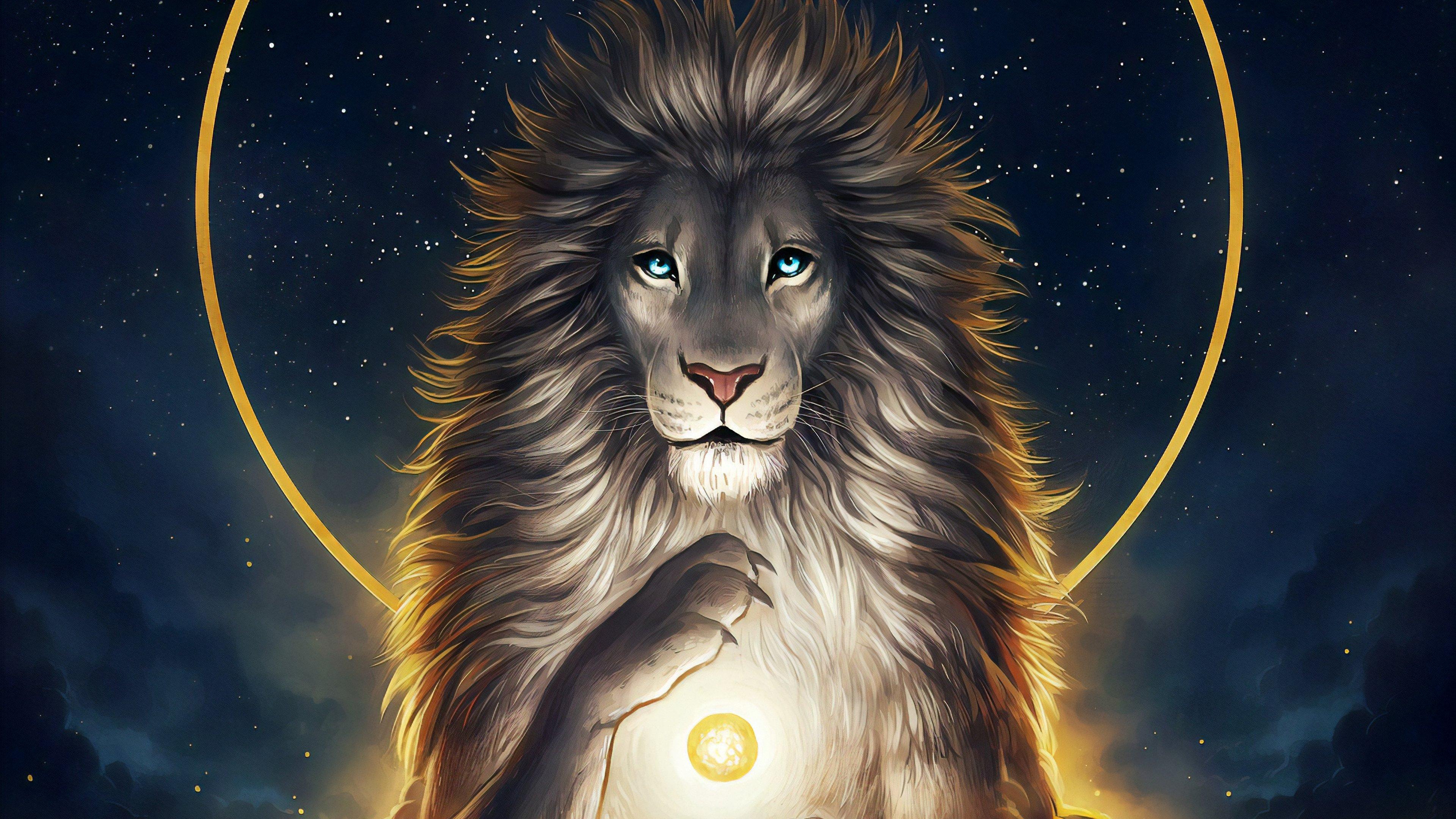 Wallpaper Lion Digital Art