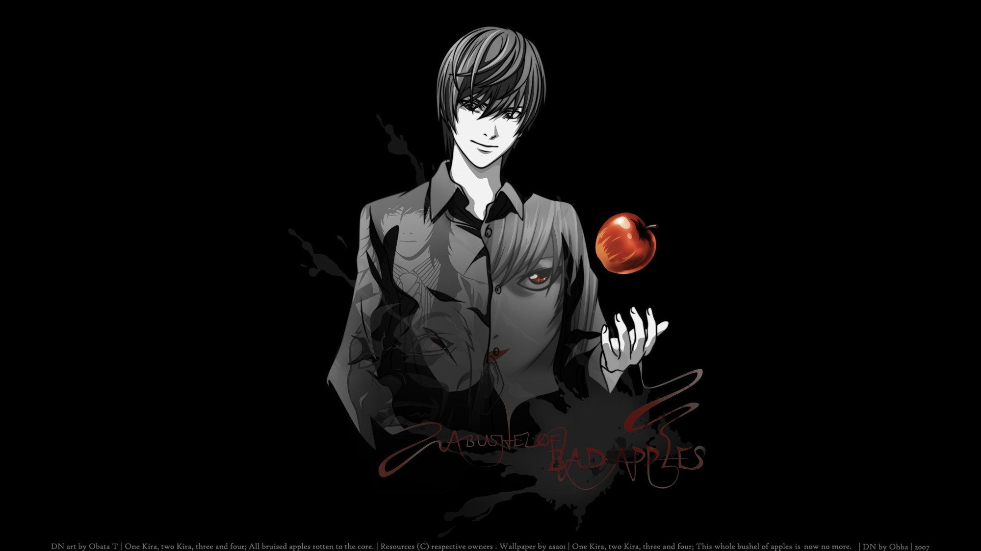 Fondos de pantalla Anime Light Yagami de Death Note