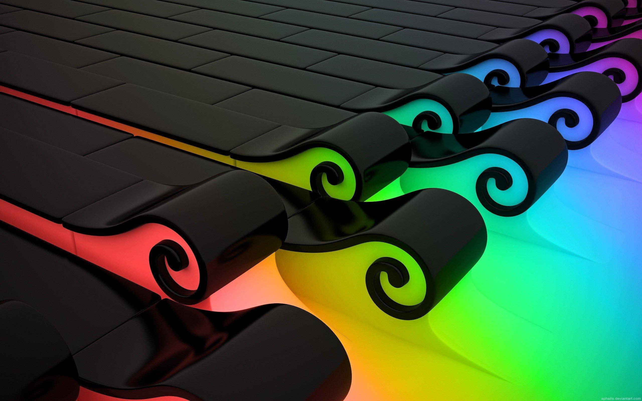 Fondo de pantalla de Lineas con espiral de colores Imágenes