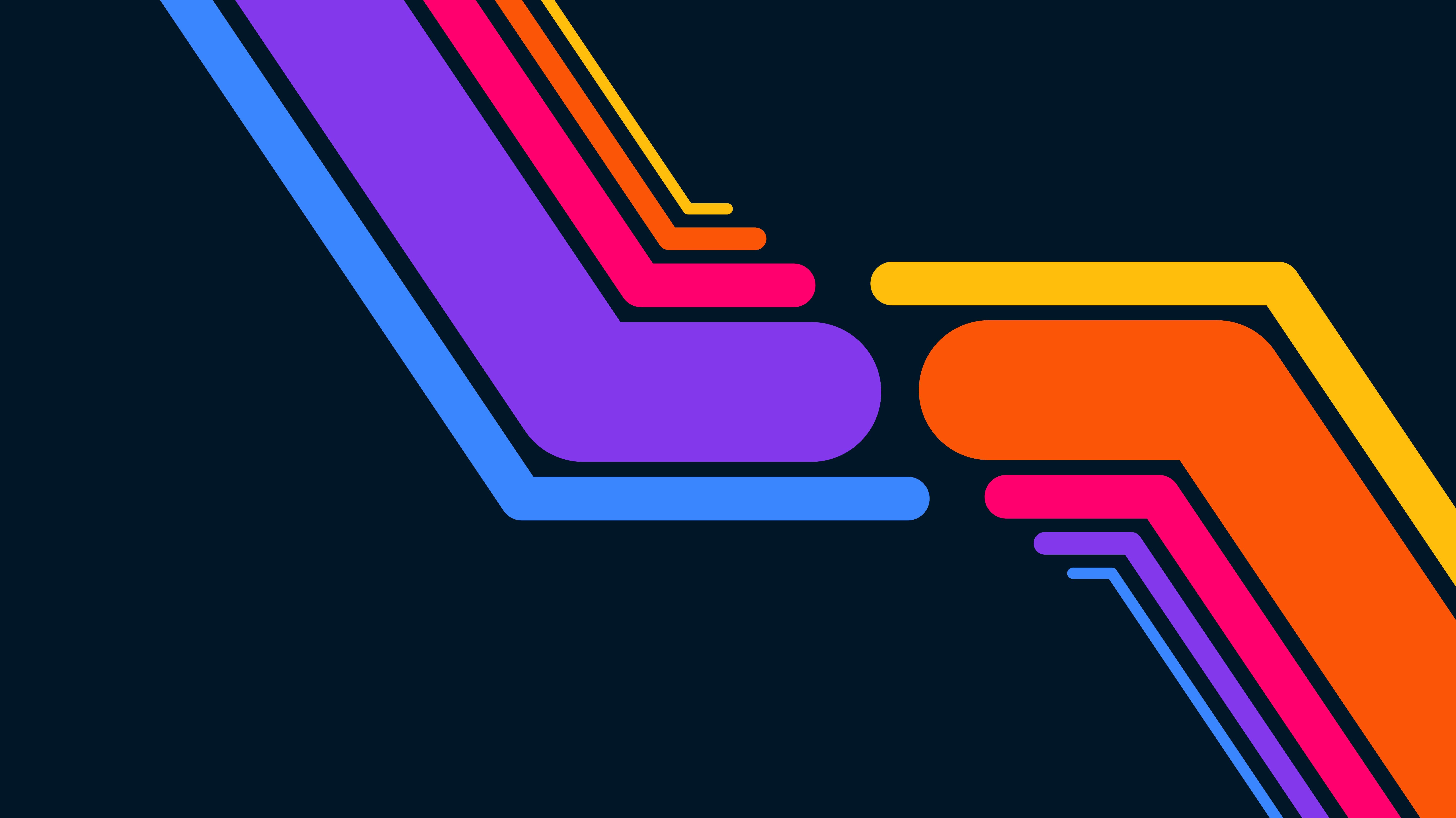 Fondos de pantalla Líneas de colores Minimalista