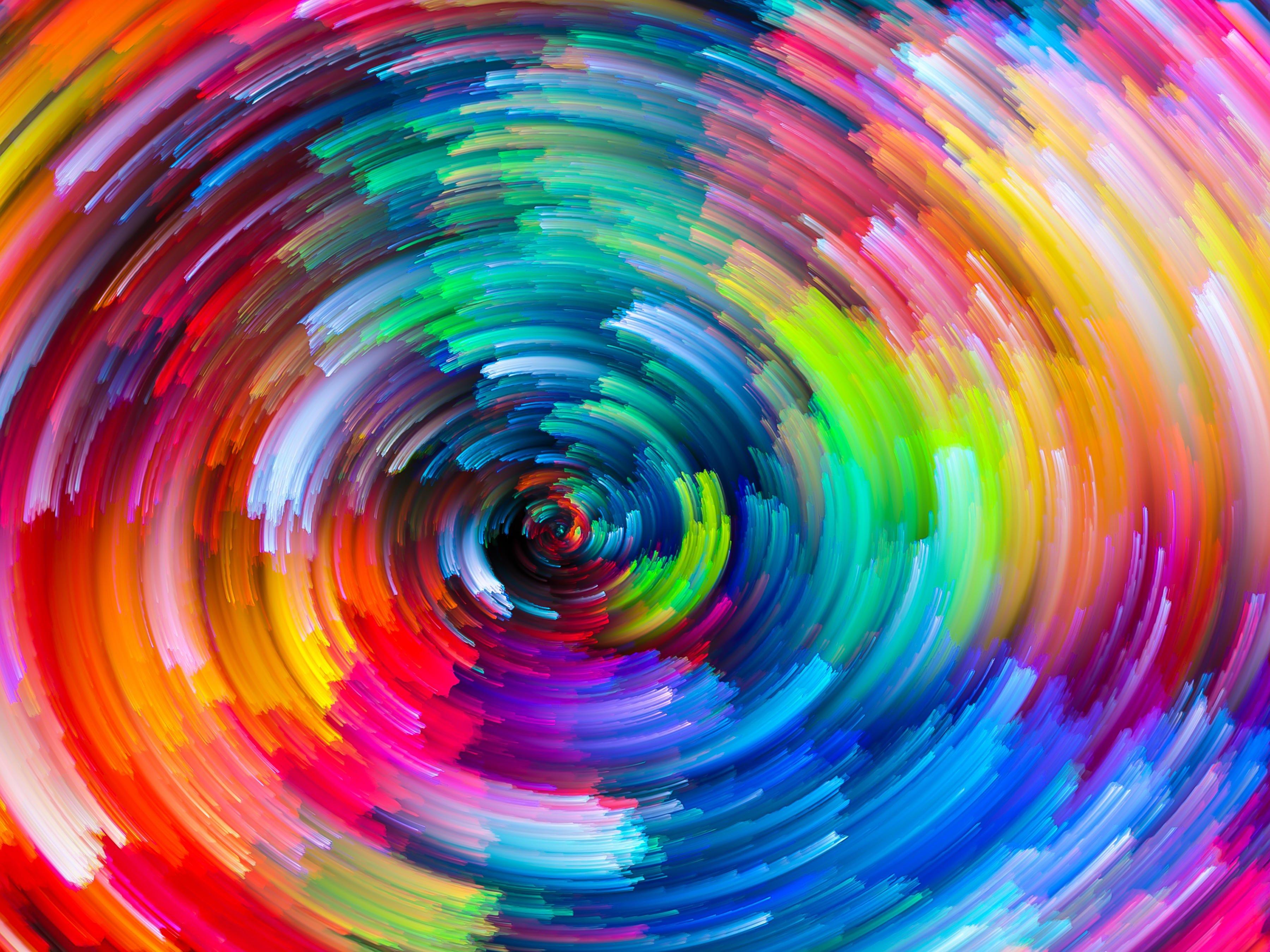 Fondos de pantalla Lineas en espiral de colores